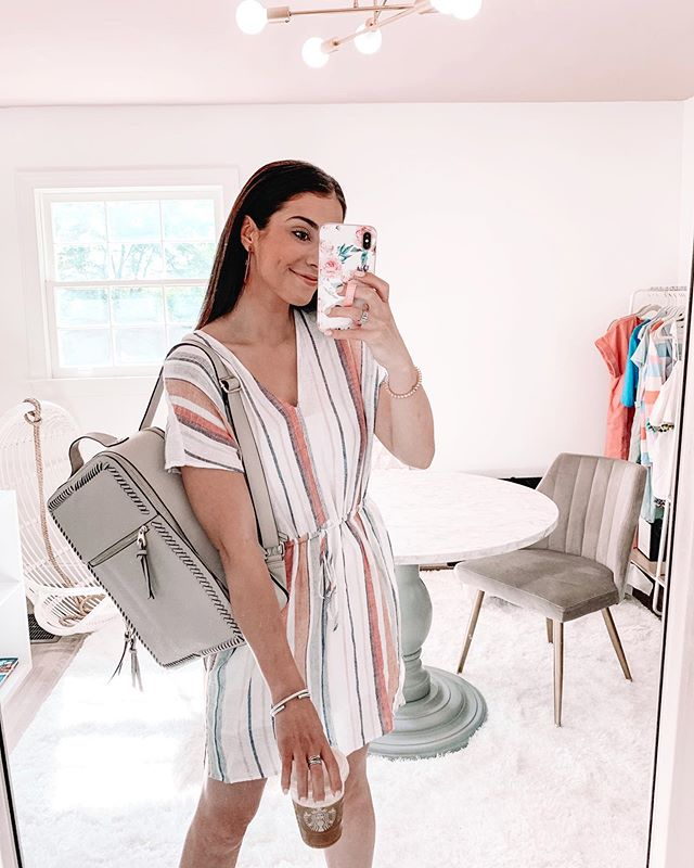 Happy Friday!! Wanted to share my work OOTD 🌈😉 Got in my very first @renttherunway package and I seriously love every single piece... But probably most excited about this backpack, no more juggling everything I own to & from the office! 🤣 // You can shop all outfit AND office details on the LIKEtoKNOW.it app or by clicking the #linkinbio 💕 http://liketk.it/2C371 #liketkit @liketoknow.it #carlylethorntonfashion