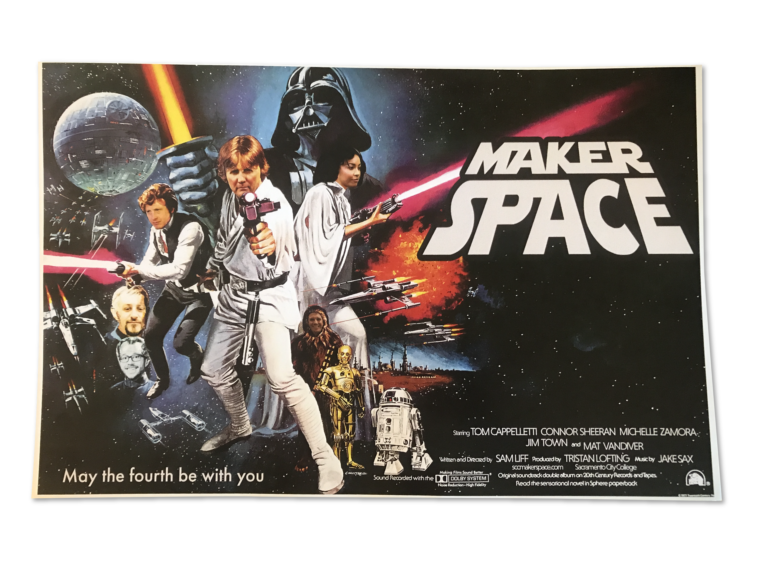 An appropriate theme for a May 4th opening, posters were designed by one of our student staff.