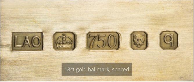 18ct Gold Hallmark