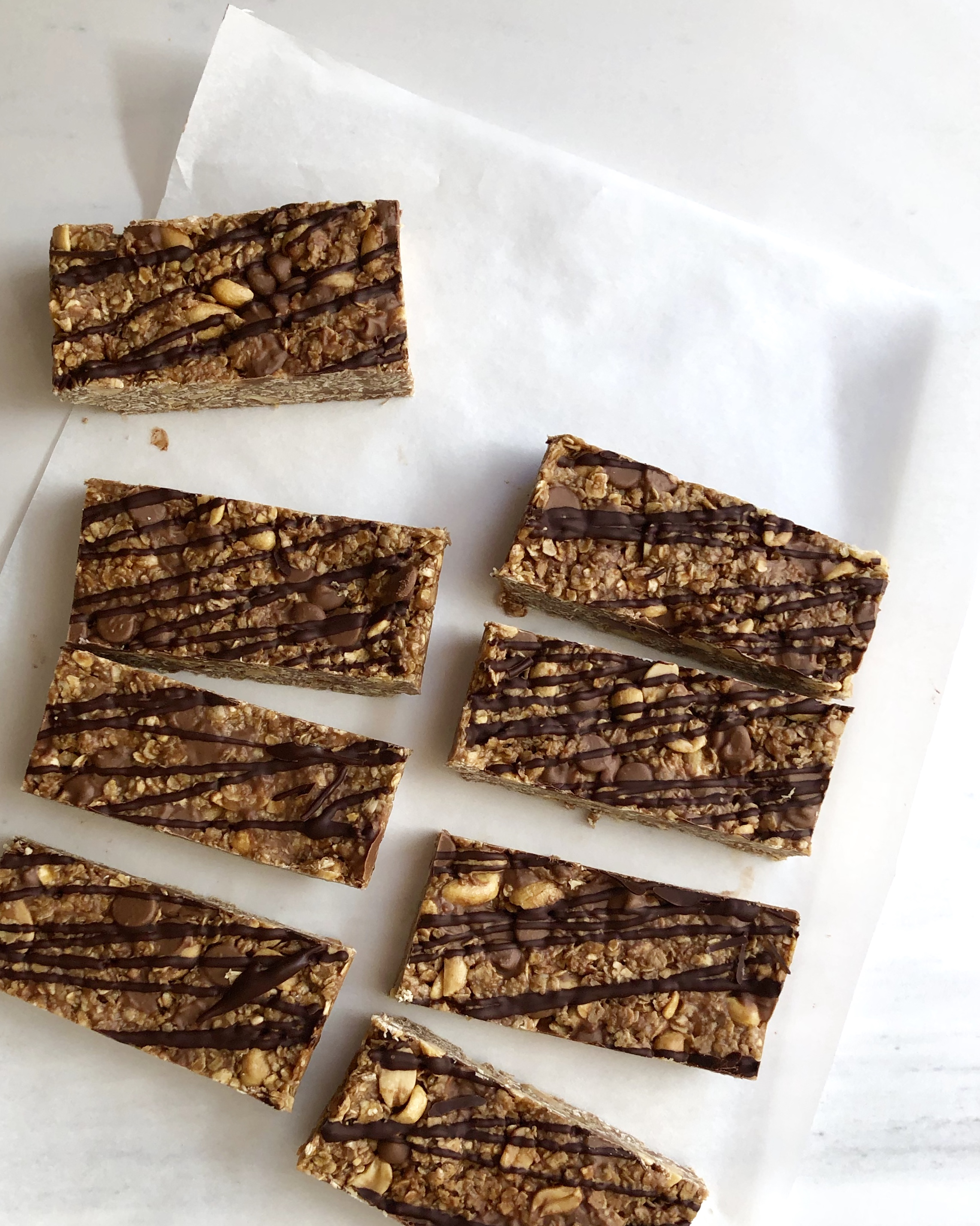 Peanut and Chocolate Granola Bars