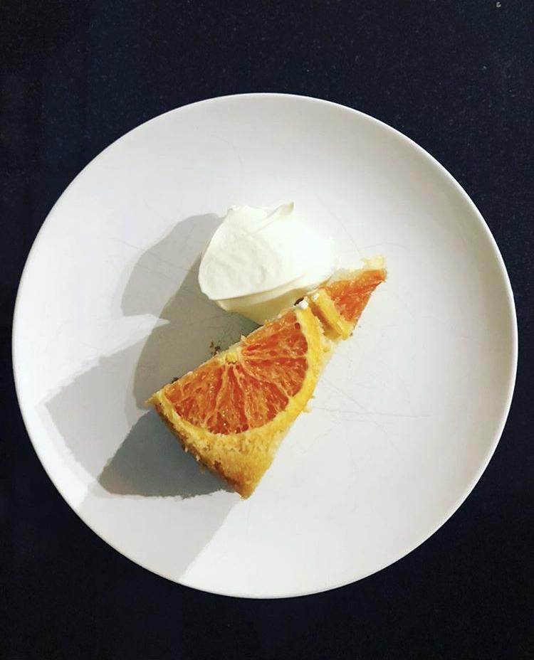 Blood Orange and Créme Fraíche cake