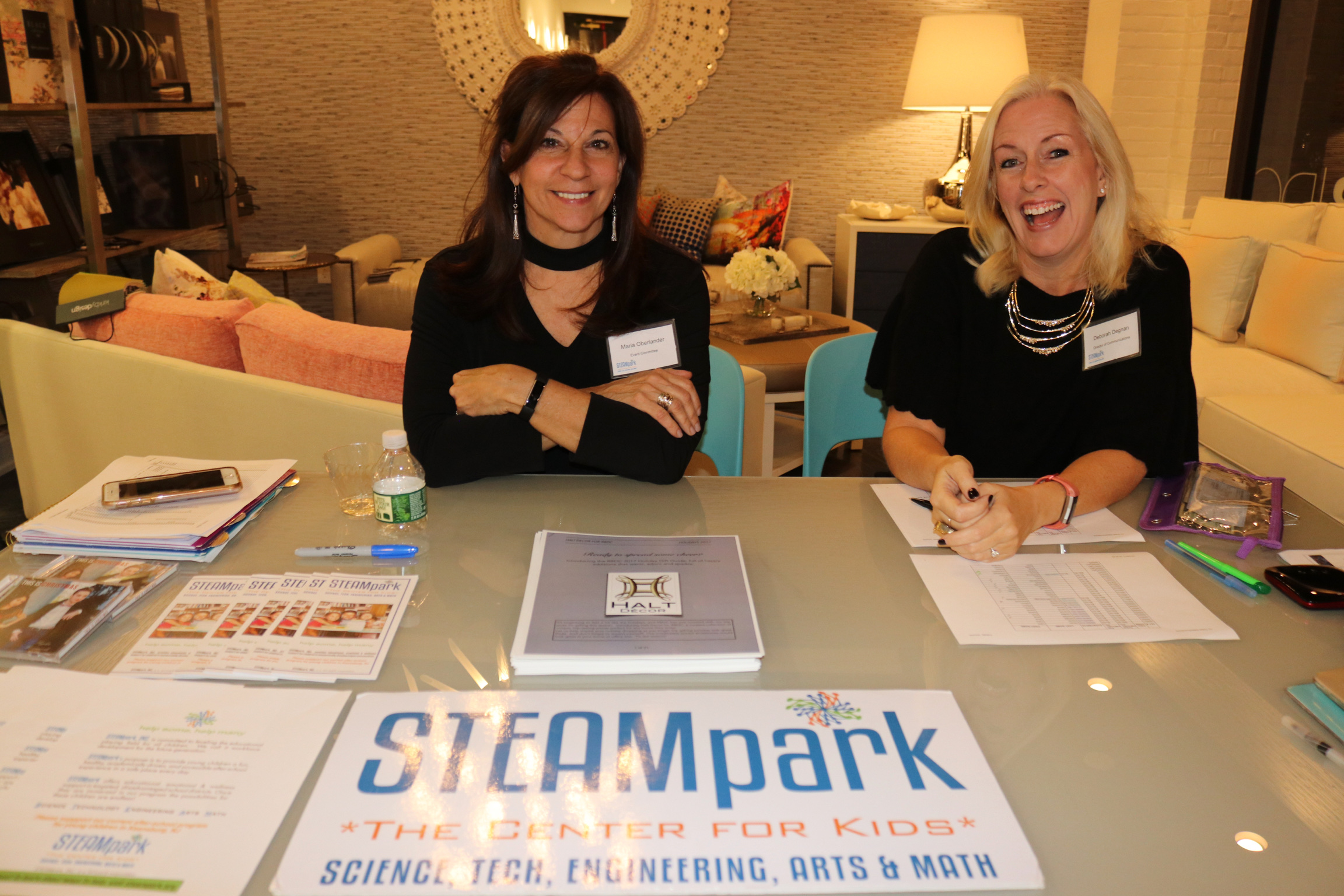 Registration Table at The Color of STEAM Event