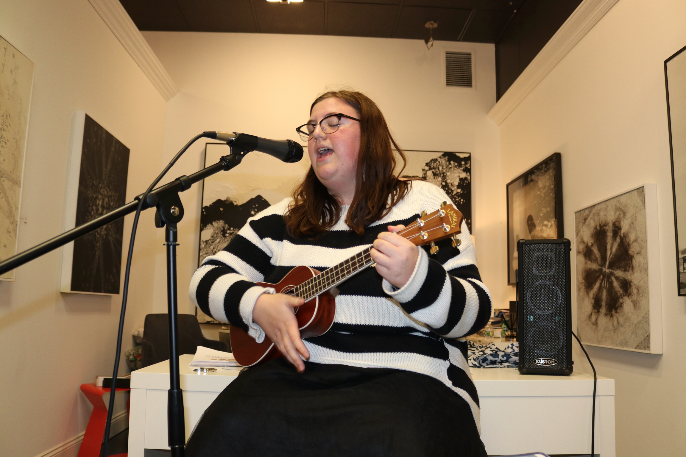 Musical performances by talented local students