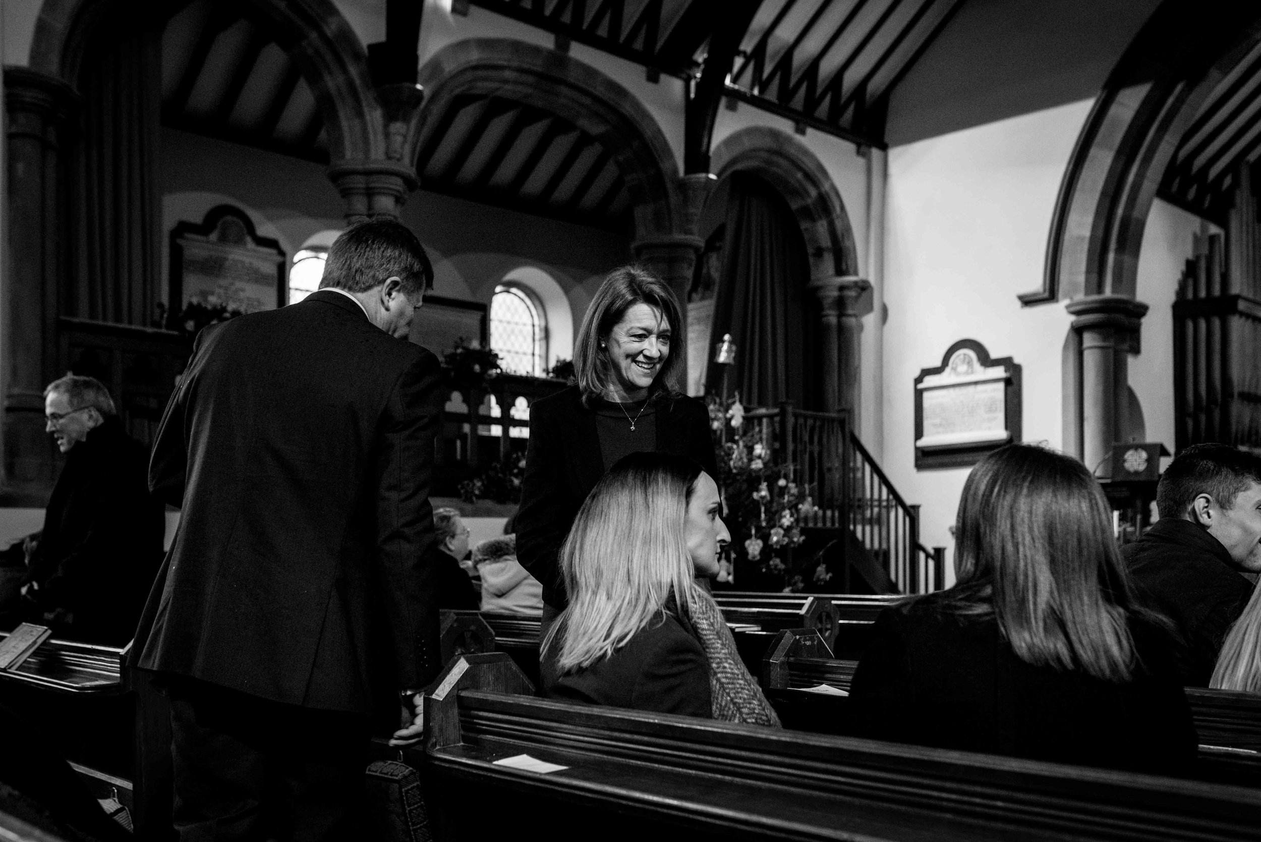 Guests start arriving at the church for the Christening of baby Harry.