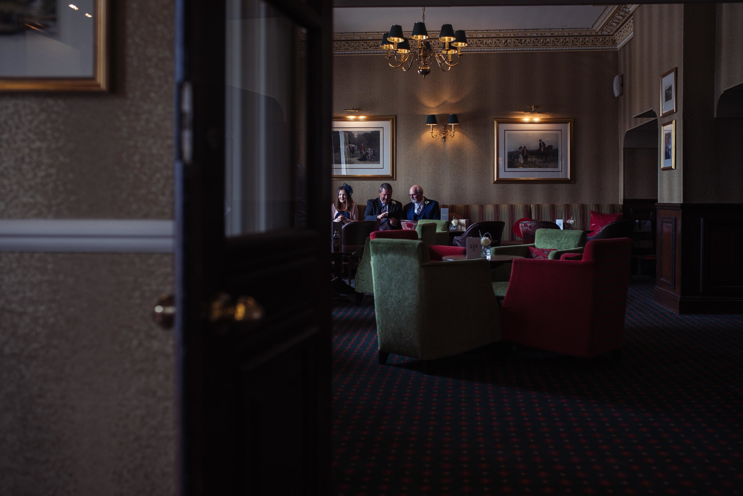 The bar area at the Roundthorn Country House Hotel