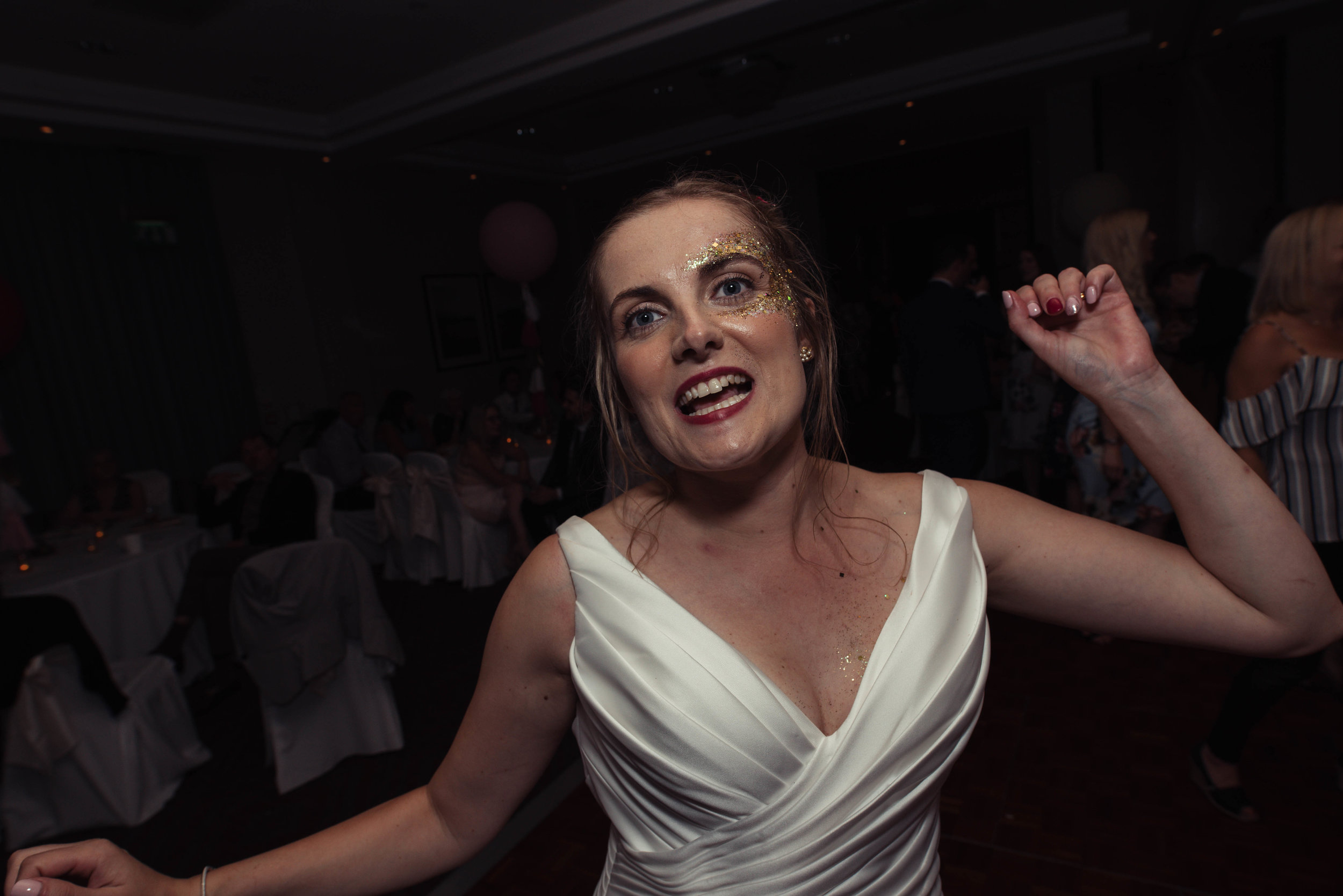 The bride on the dance floor