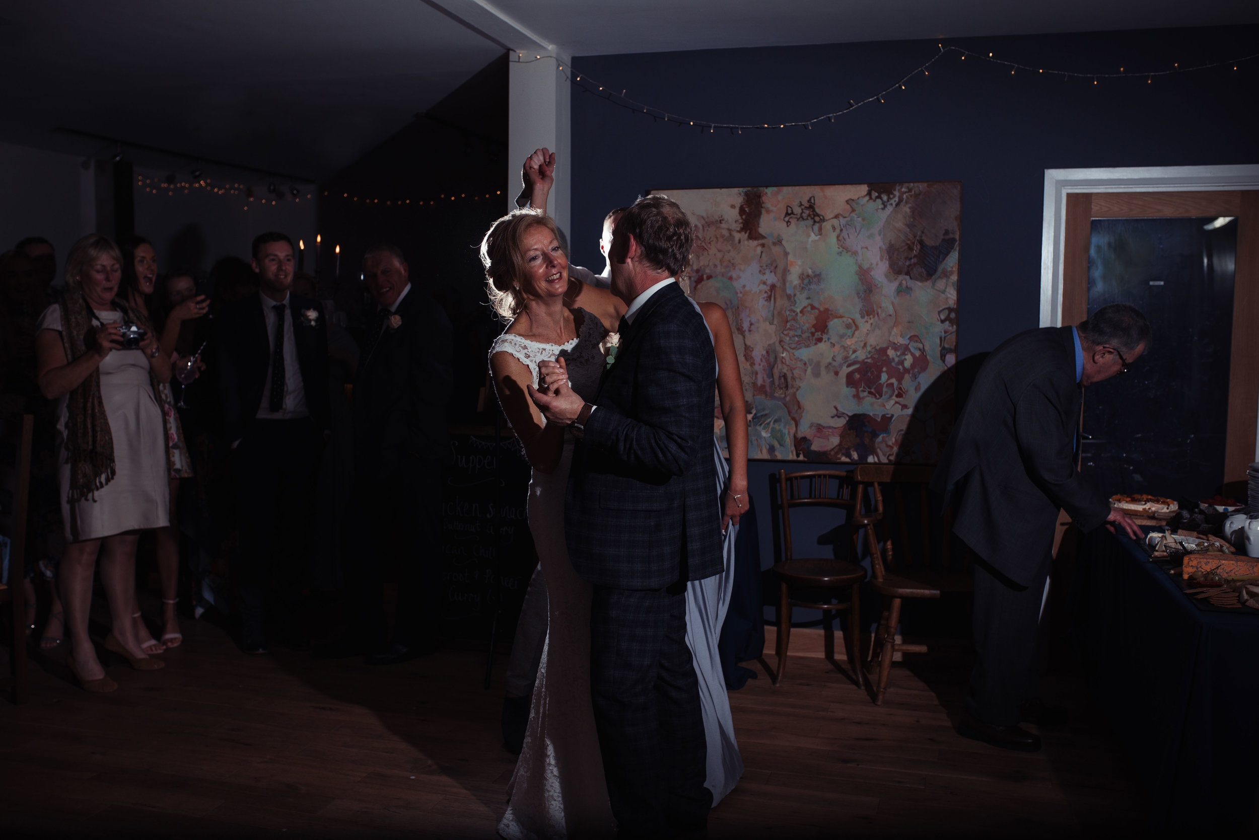 bride and groom do their first dance