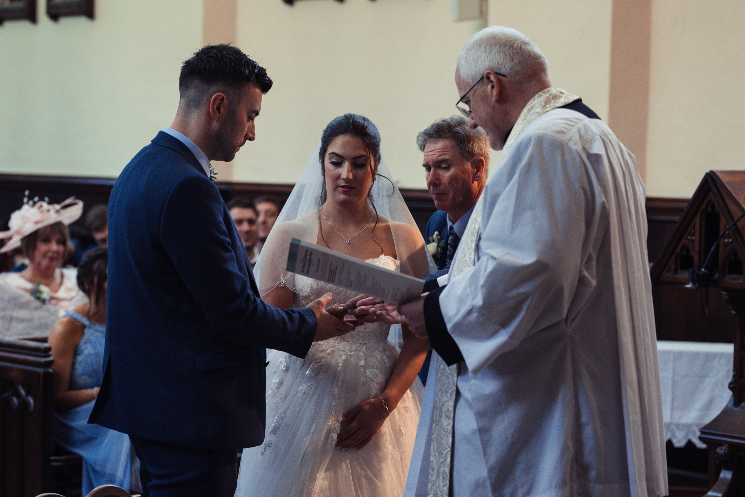 The church marriage service