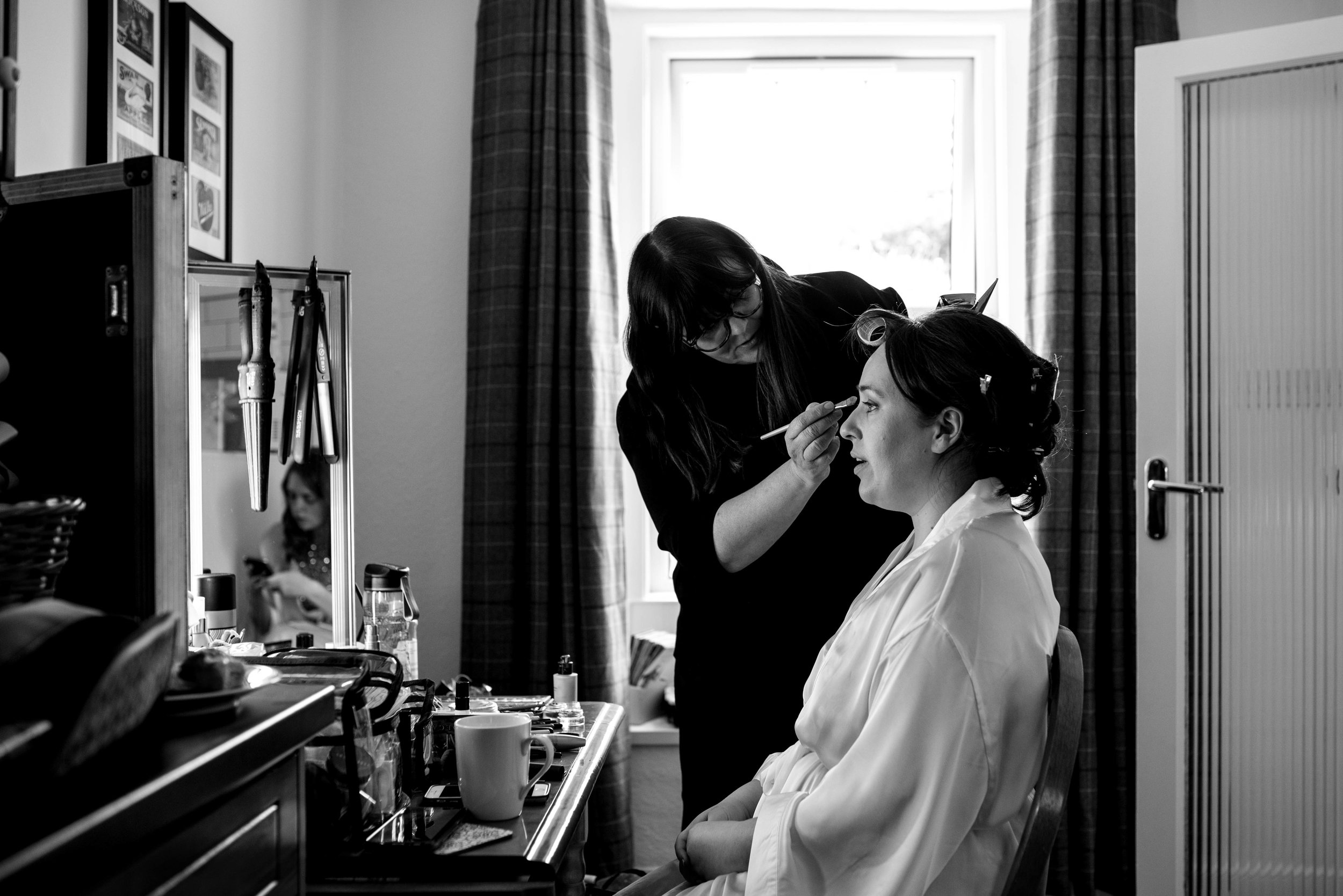 Cumbria wedding photography bridal prep