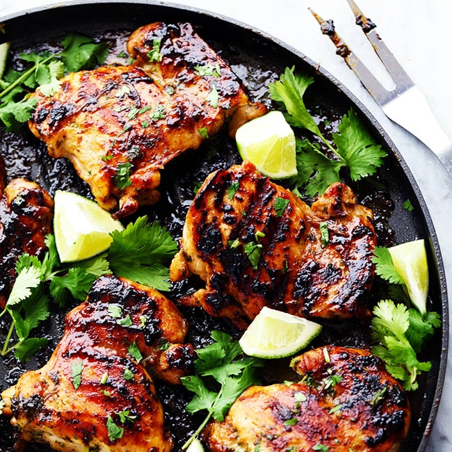 Grilled Honey Lime Cilantro Chicken - from The Recipe Critic