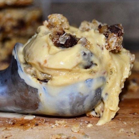 salted caramelita - Salted caramel ice cream with bits of homemade Carmelitas