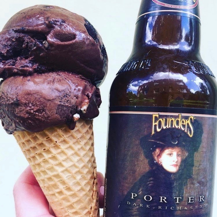 Founder'sSup-PORTER - Founder's Porter + dark chocolate ice cream + oreo