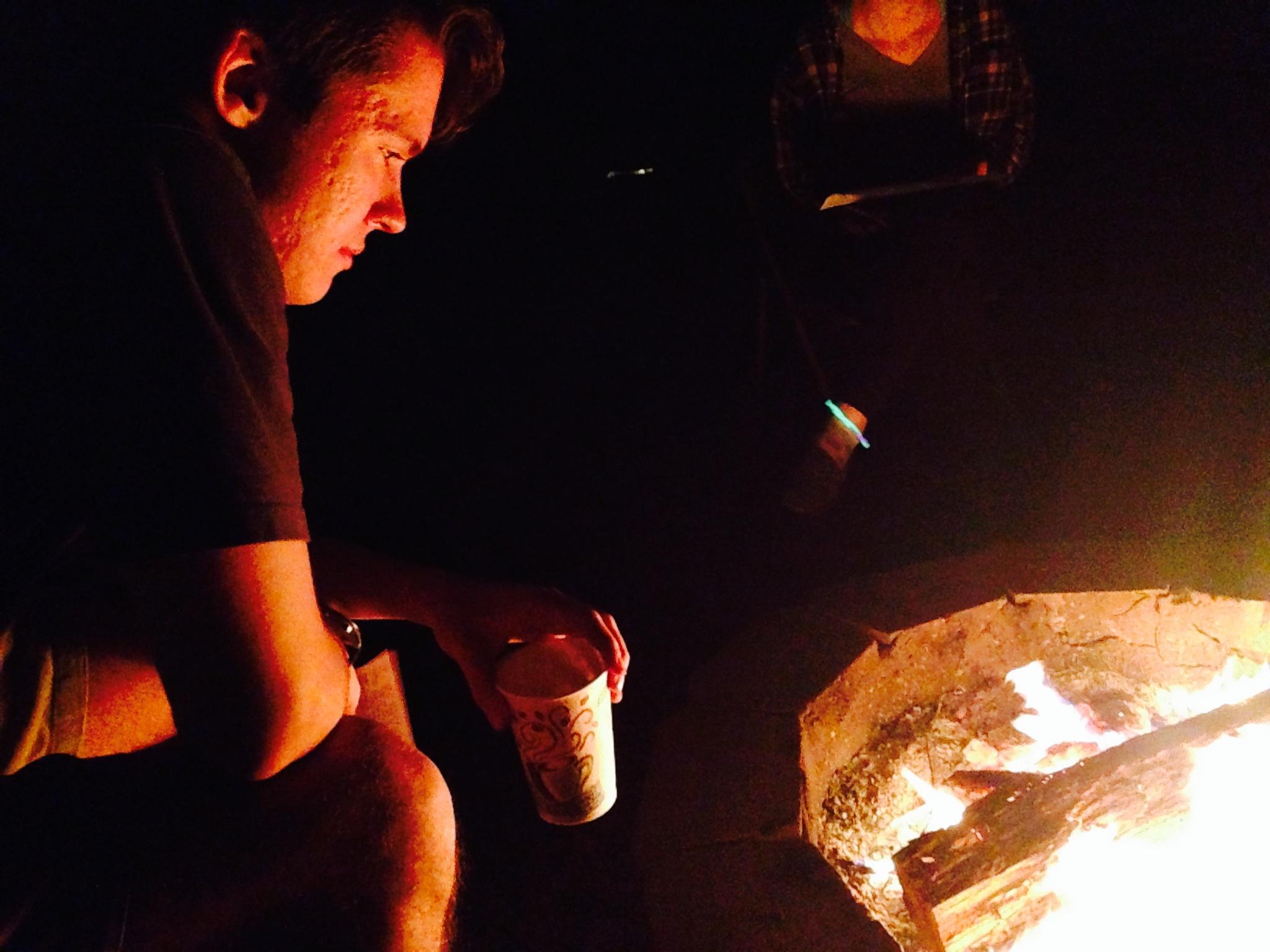 Easter Vigil bonfire