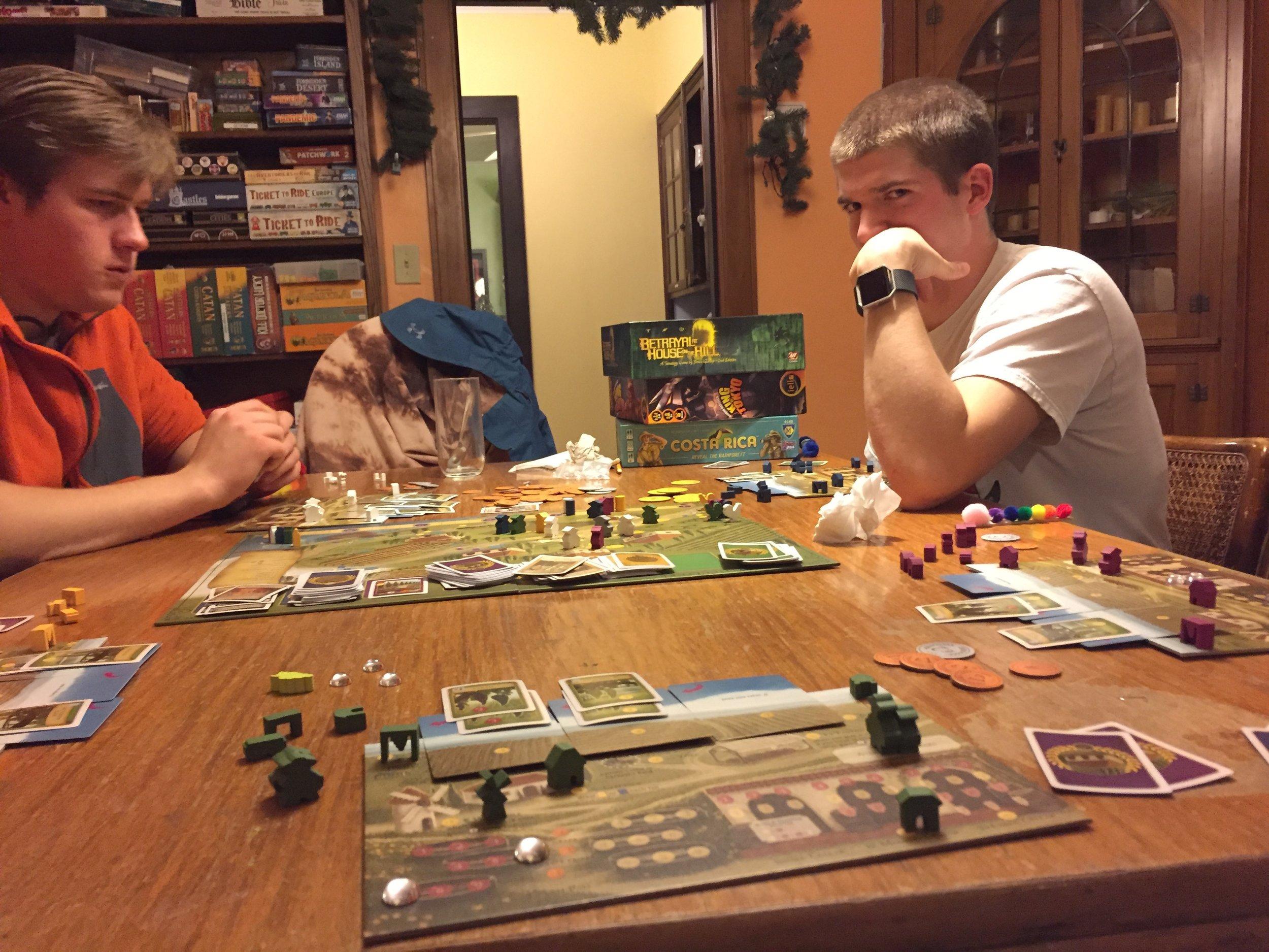 Board gaming, like you do.