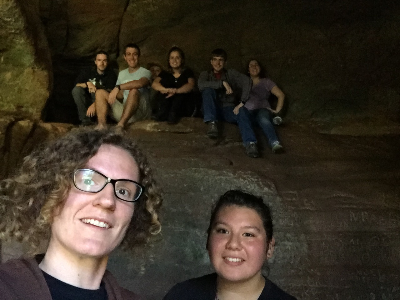 The gang who went on retreat to Hocking Hills.
