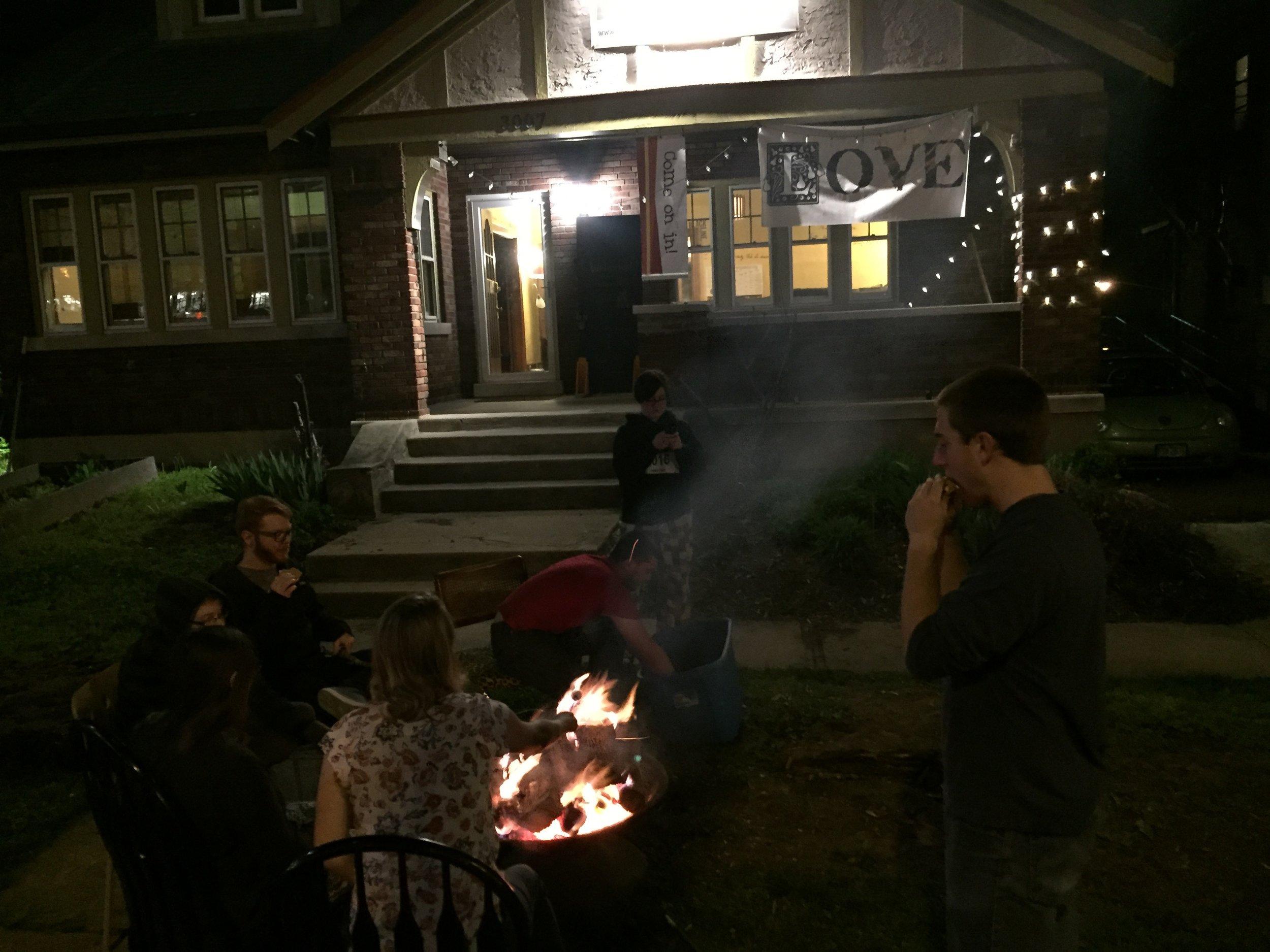 Reformation bonfire.