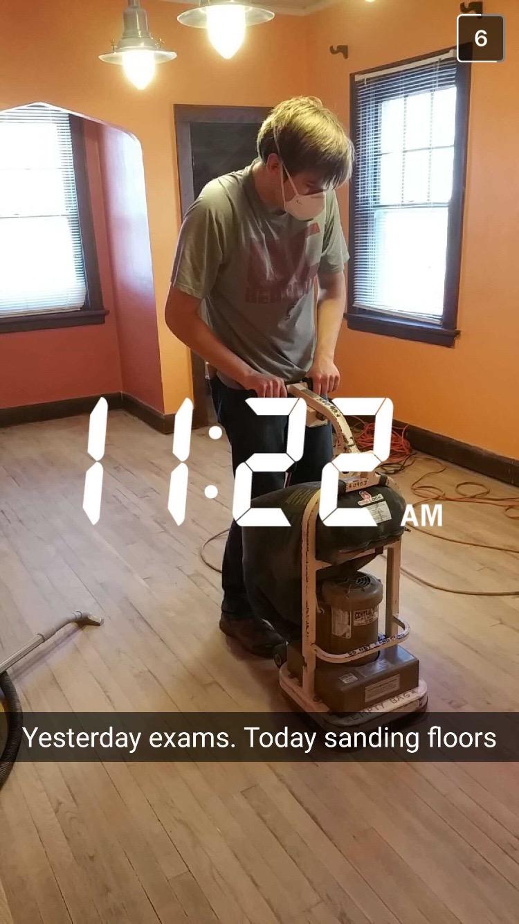We refinished the floors over Xmas break!