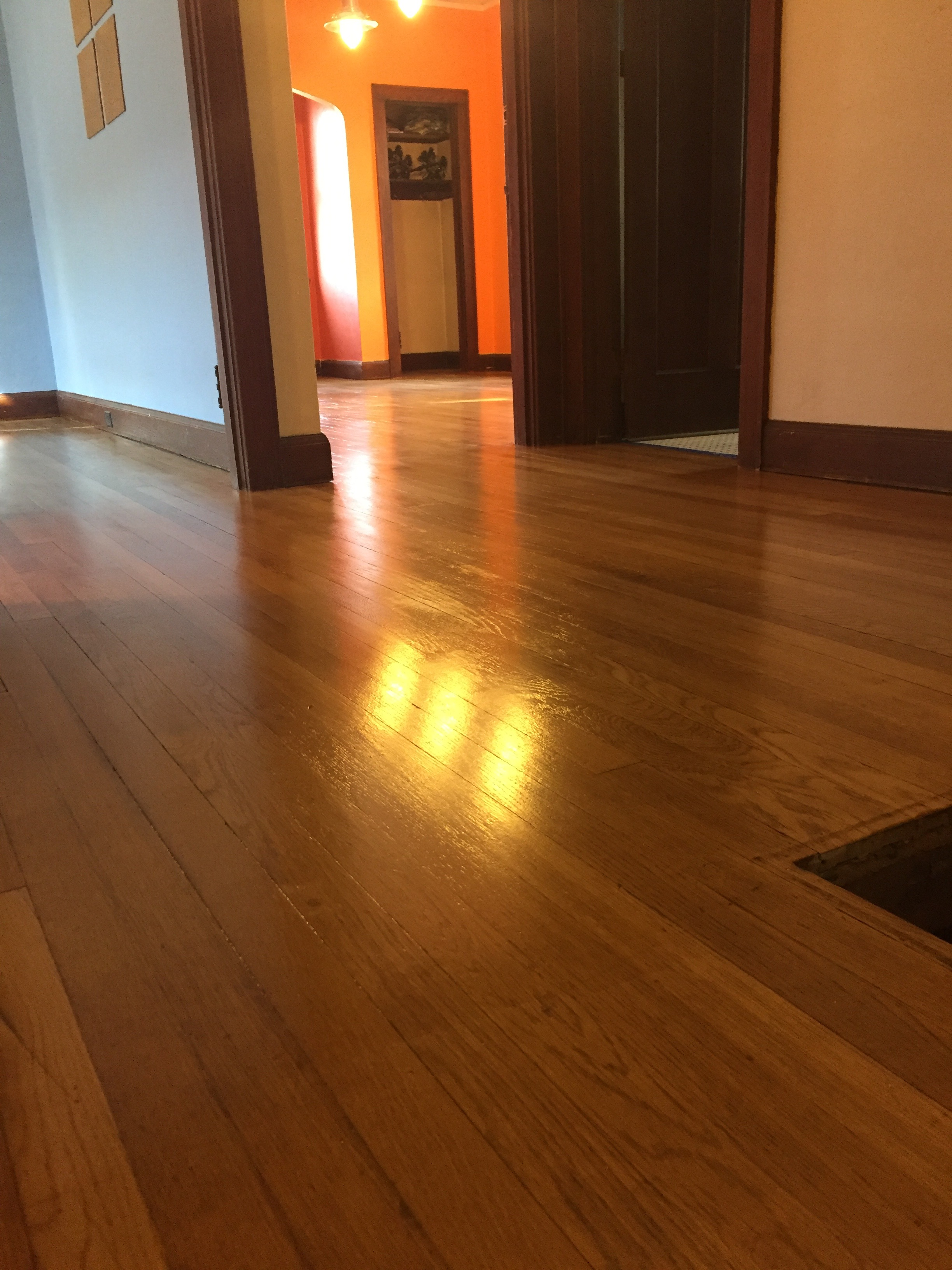The refinished floor. So. Pretty.