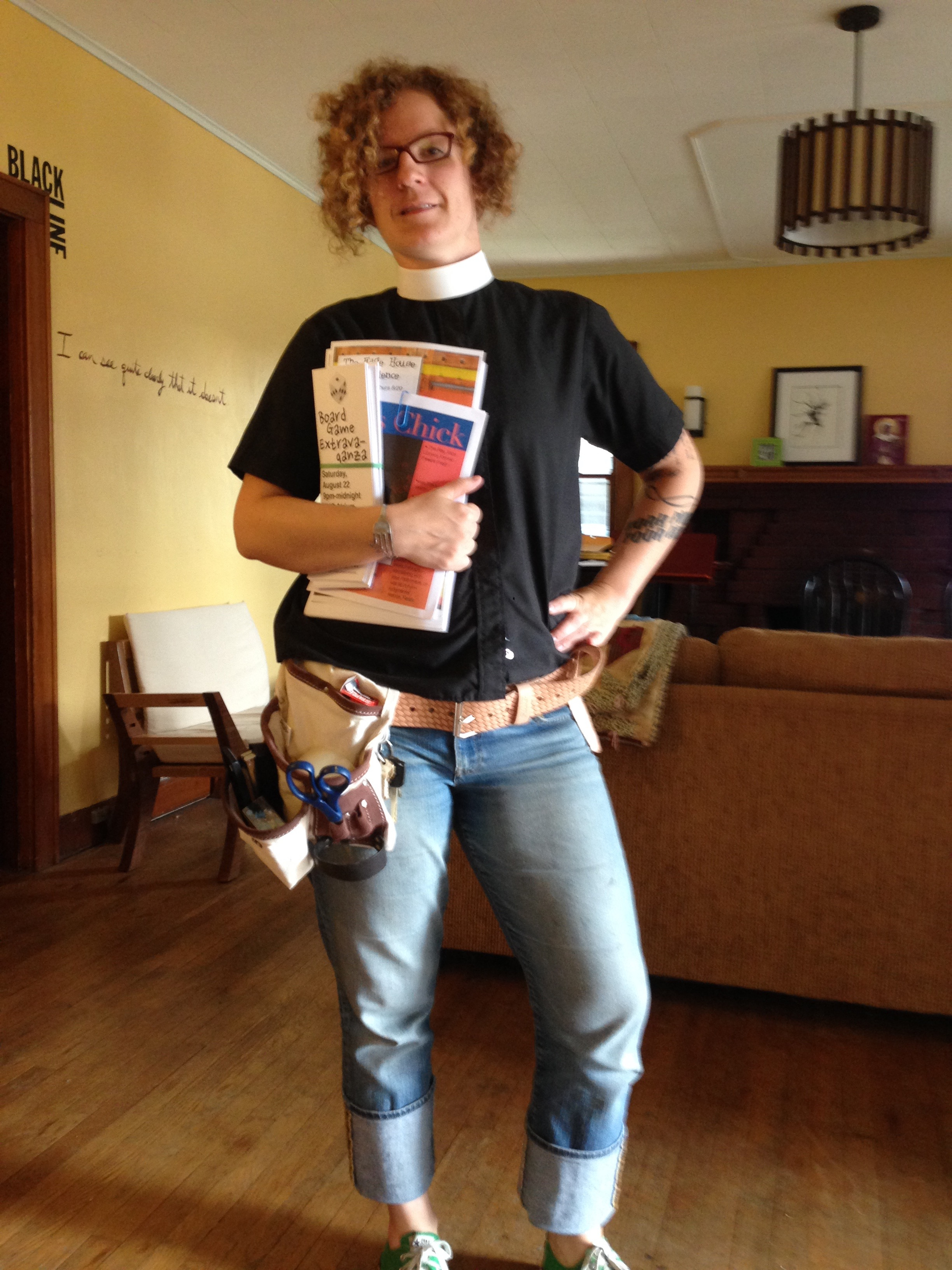 Alice's flyering outfit