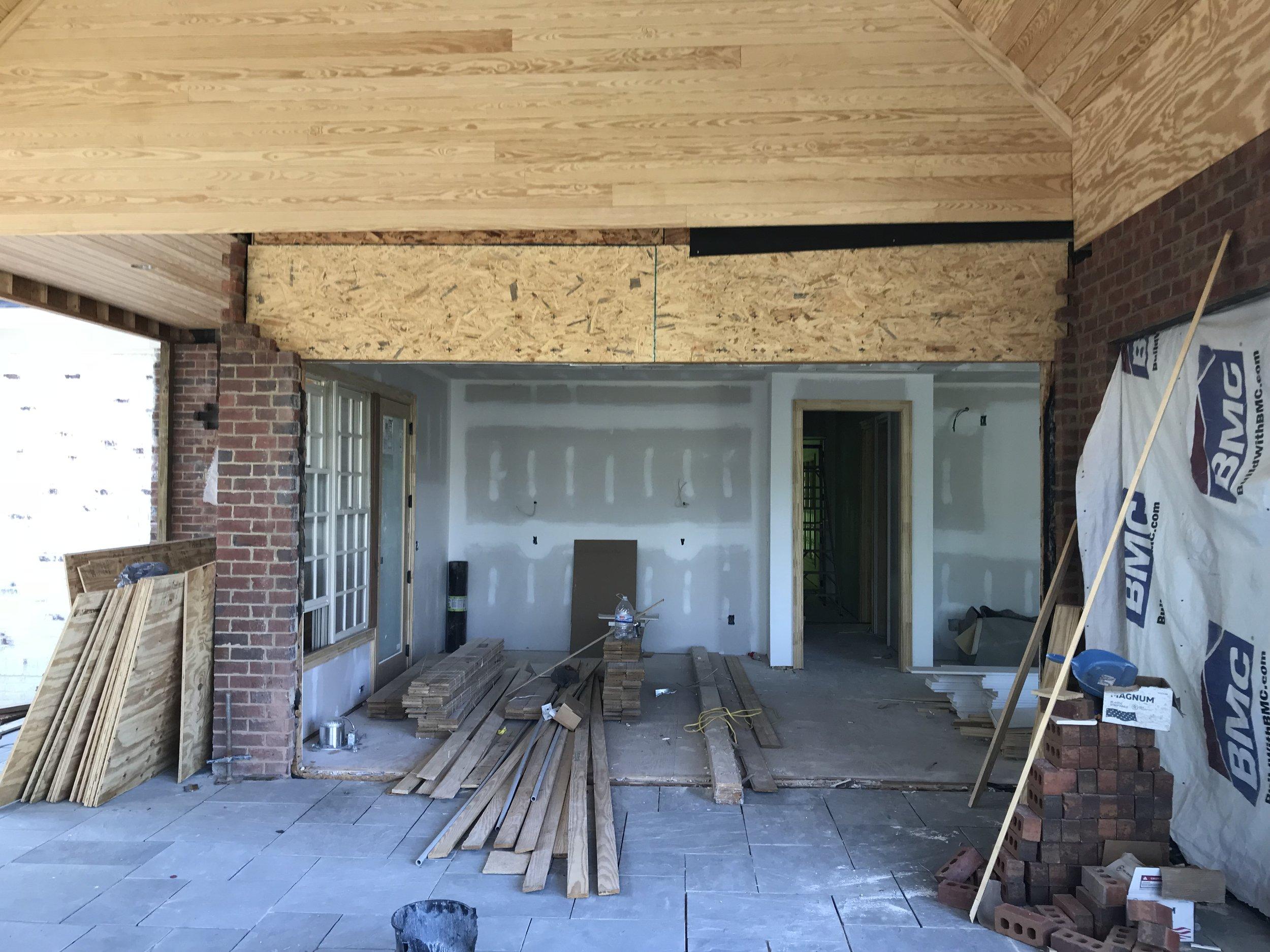 Country Club Interior Progress