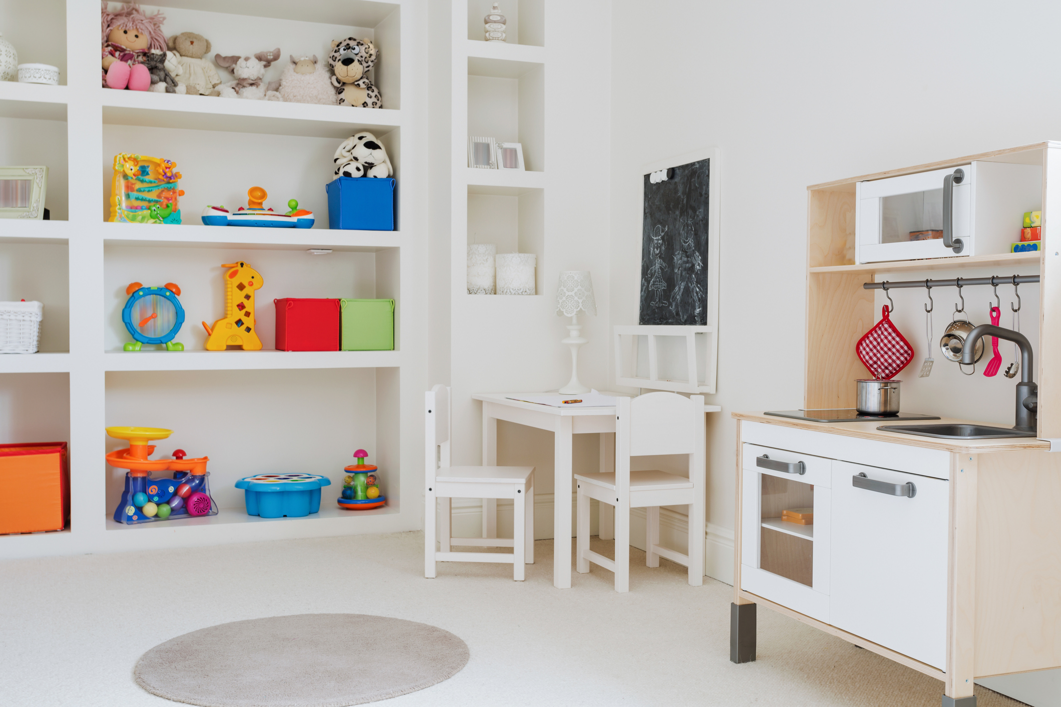 Play Area - Do the kids complain when it's time to clean up?Chances are they are just as overwhelmed by the toys as you are.With me by your side, we will design well-defined activity zones for your kids, which translates to less fights and more fun, combined with effortless clean up.