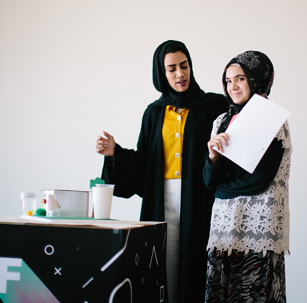 Aya, age 14,  created sustainable refugee housing that is low cost and energy efficient, while at the same time providing safety and shelter to those in need.