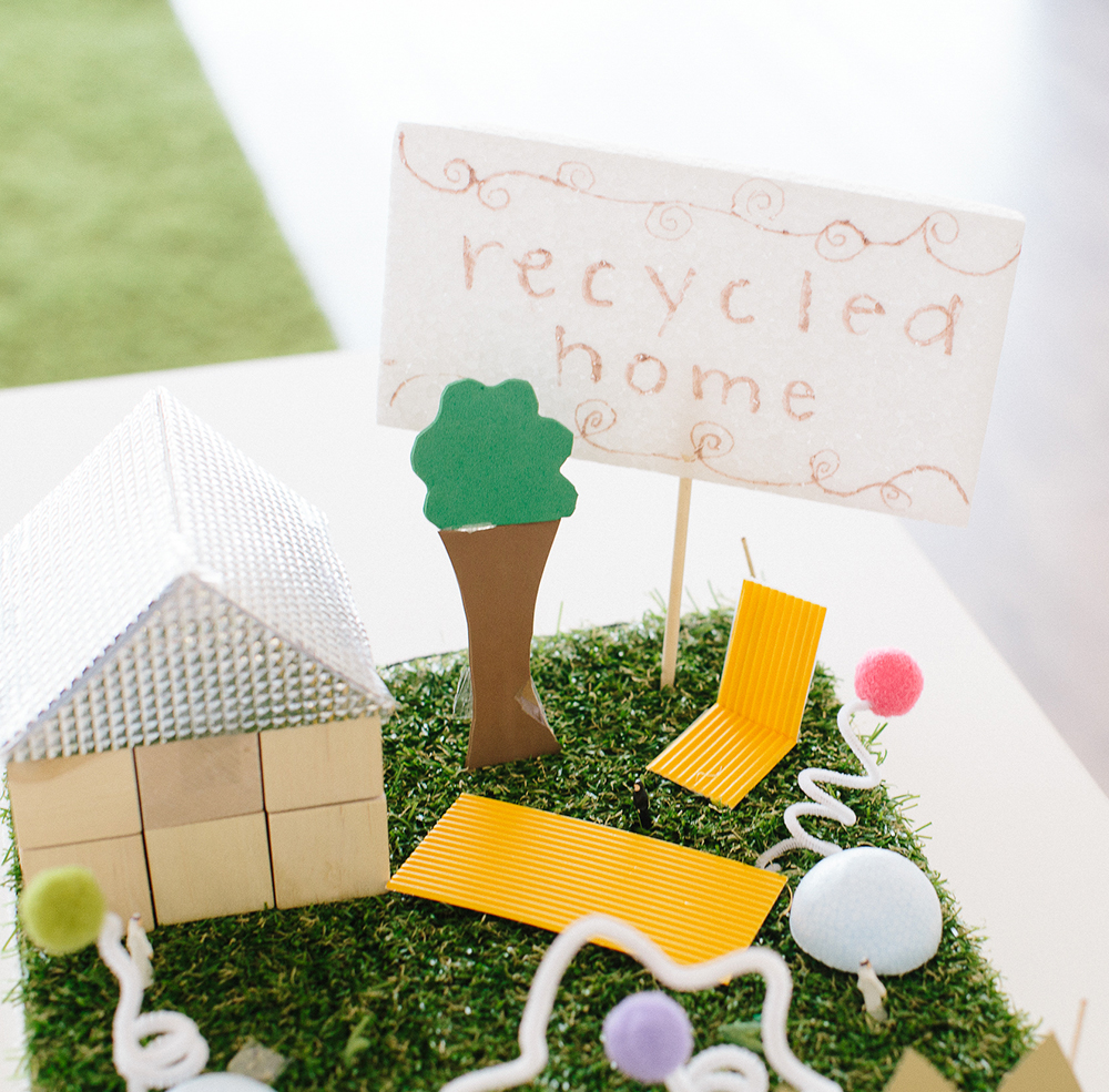 Mthayel, age 13,  designed a home built entirely out of recycled materials, making home-ownership more environmentally friendly and less expensive.