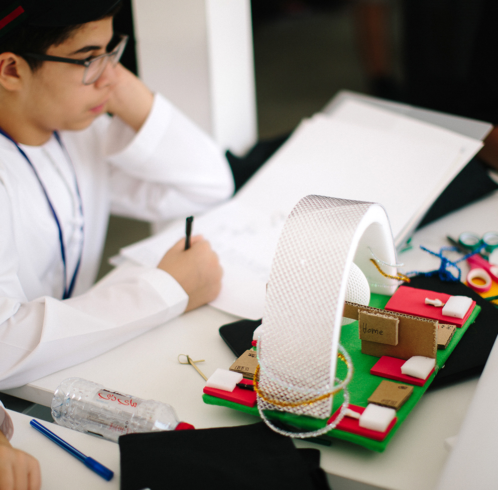 Mohammed, age 13,  created a clinic that provides high-quality healthcare and shelter to orphans in war-torn areas.