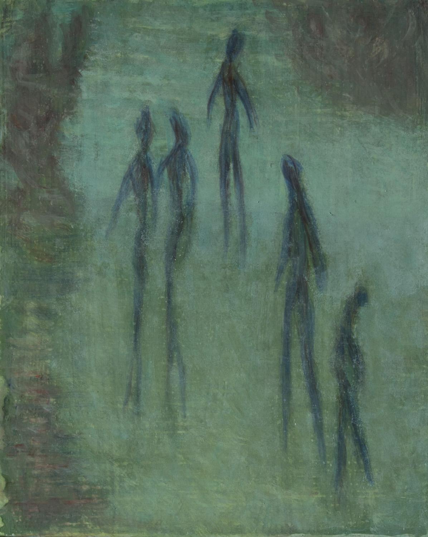 """Spirit Dream 8"""" x 10"""" egg tempera Rachel Lulov Segall"""