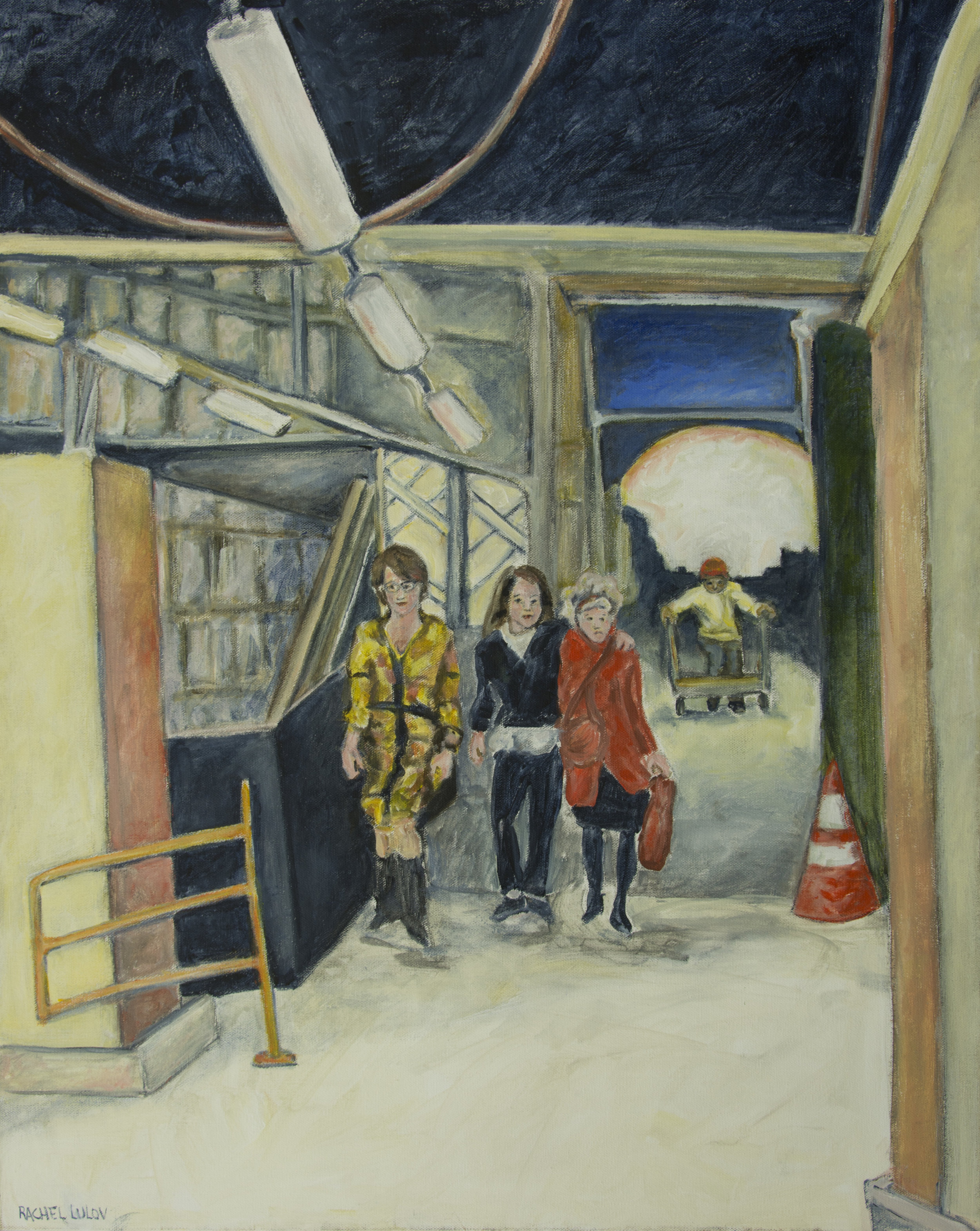 "Just Passing Through acrylic on Canvas 24"" x 30"" Rachel Lulov Segall"