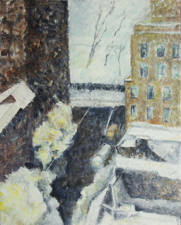 "Wintery View acrylic on canvas 24"" x 30"" Rachel Lulov Segall"