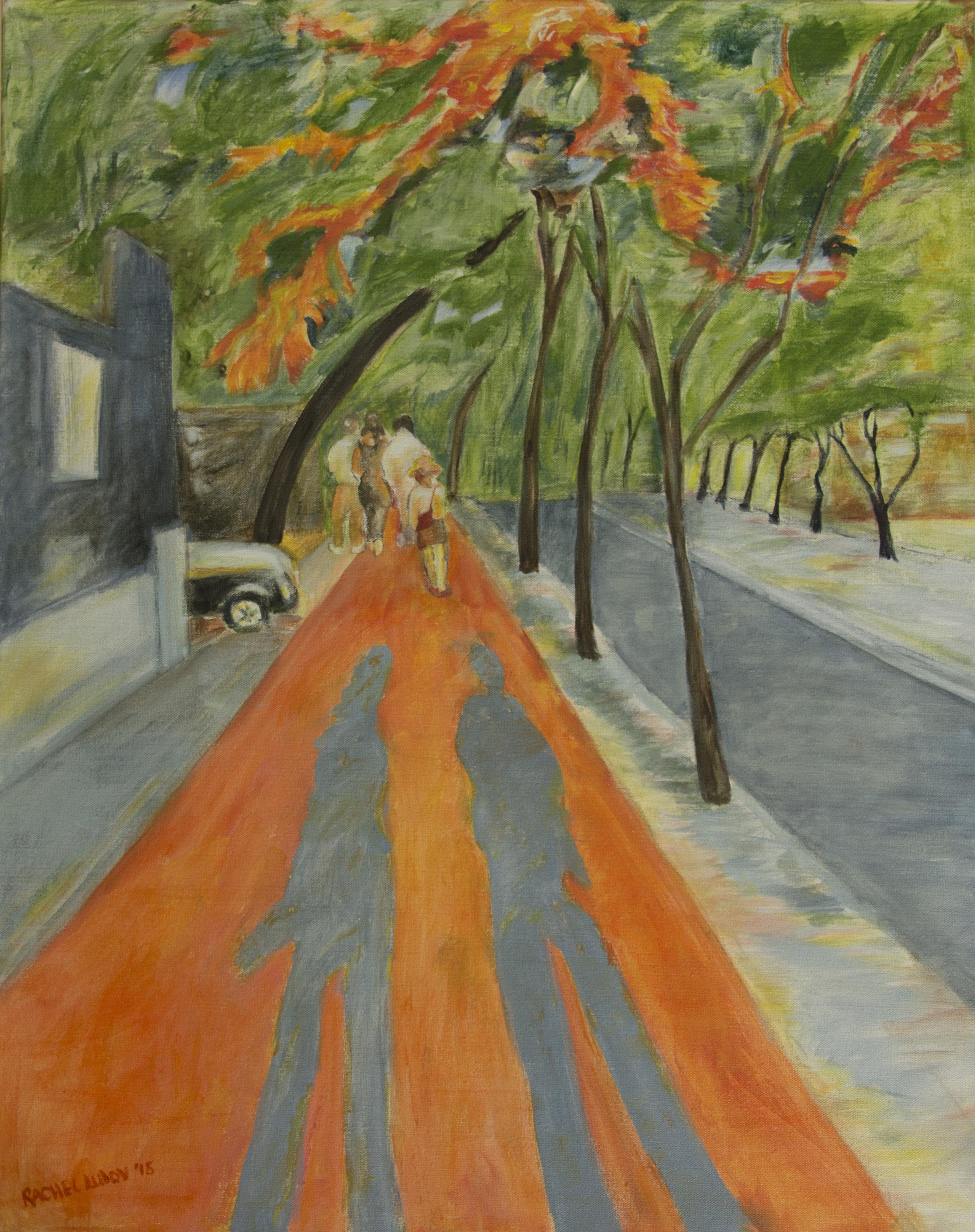 "Longest Day of the Year acrylic on canvas 24"" x 36"" Rachel Lulov Segall"