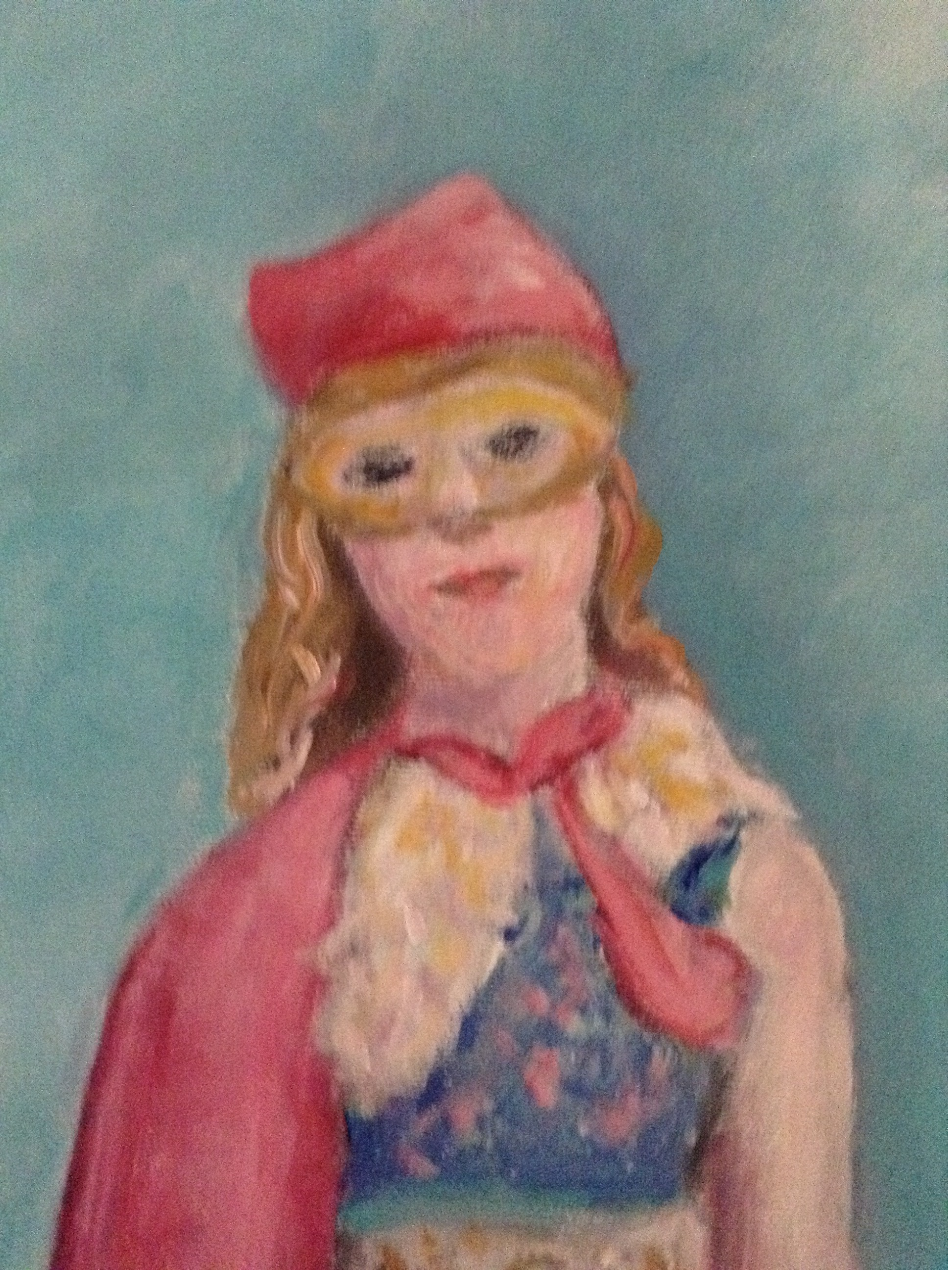 "detail of ""Strong Girl"" acrylic on canvas 24"" x 30"" Rachel Lulov Segall"