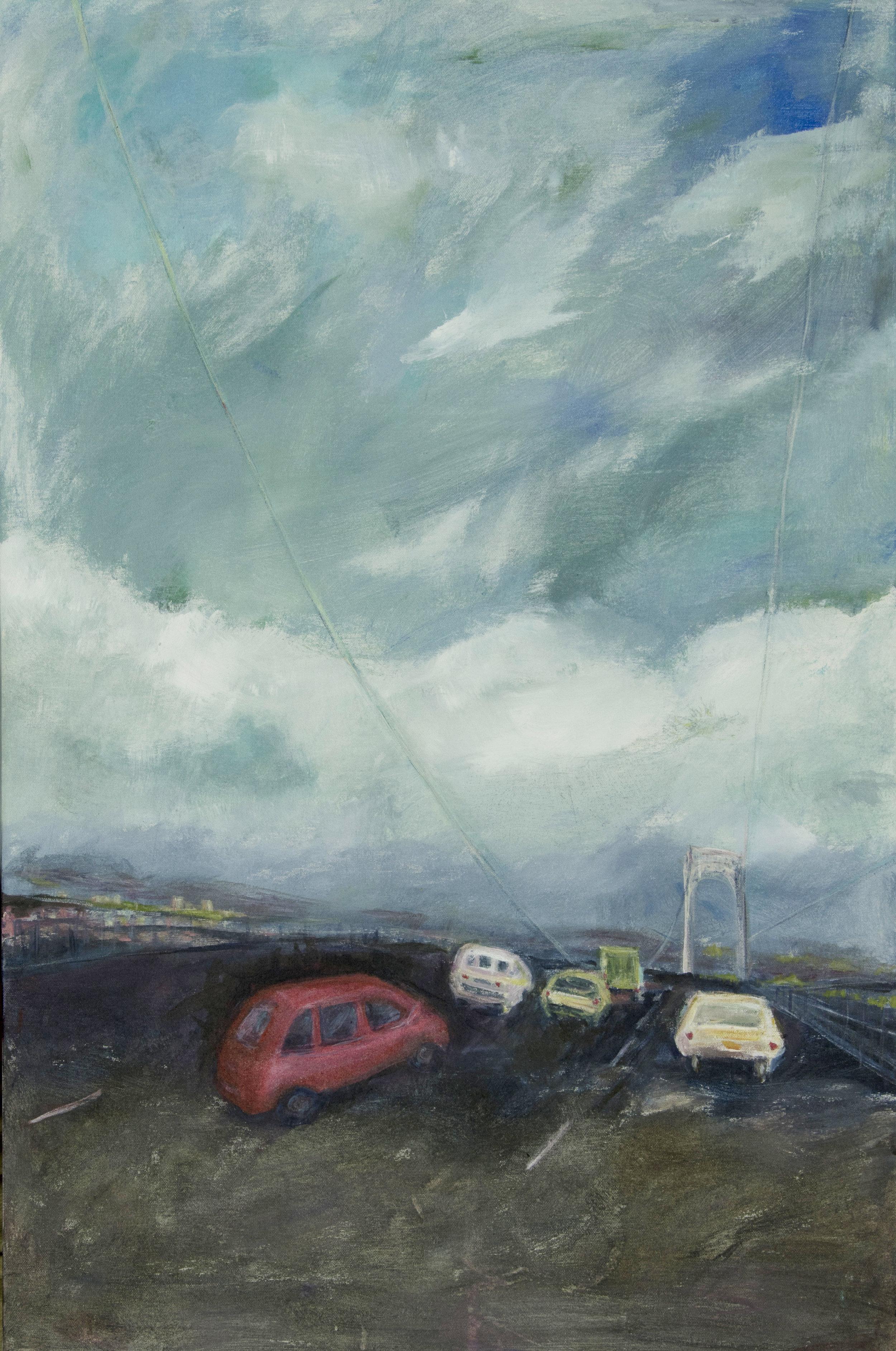 On the Bridge Acrylic on canvas 24x 36