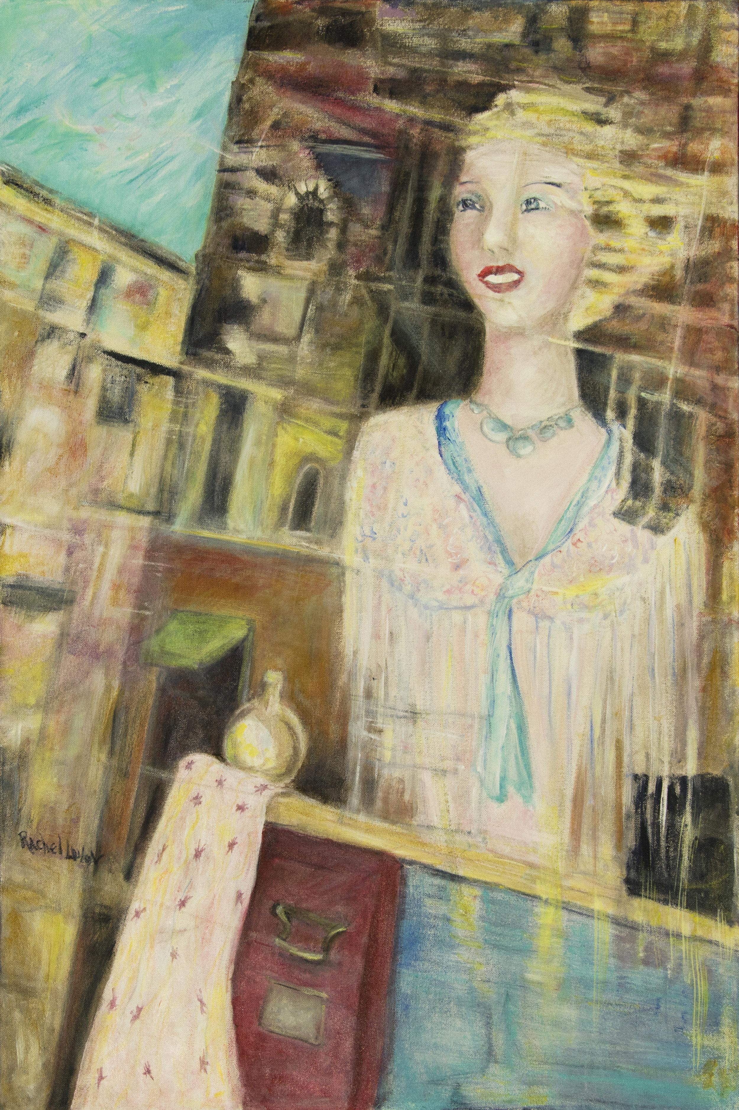 Reflection, acrylic on canvas, 24 x 38 Rachel Lulov Segall