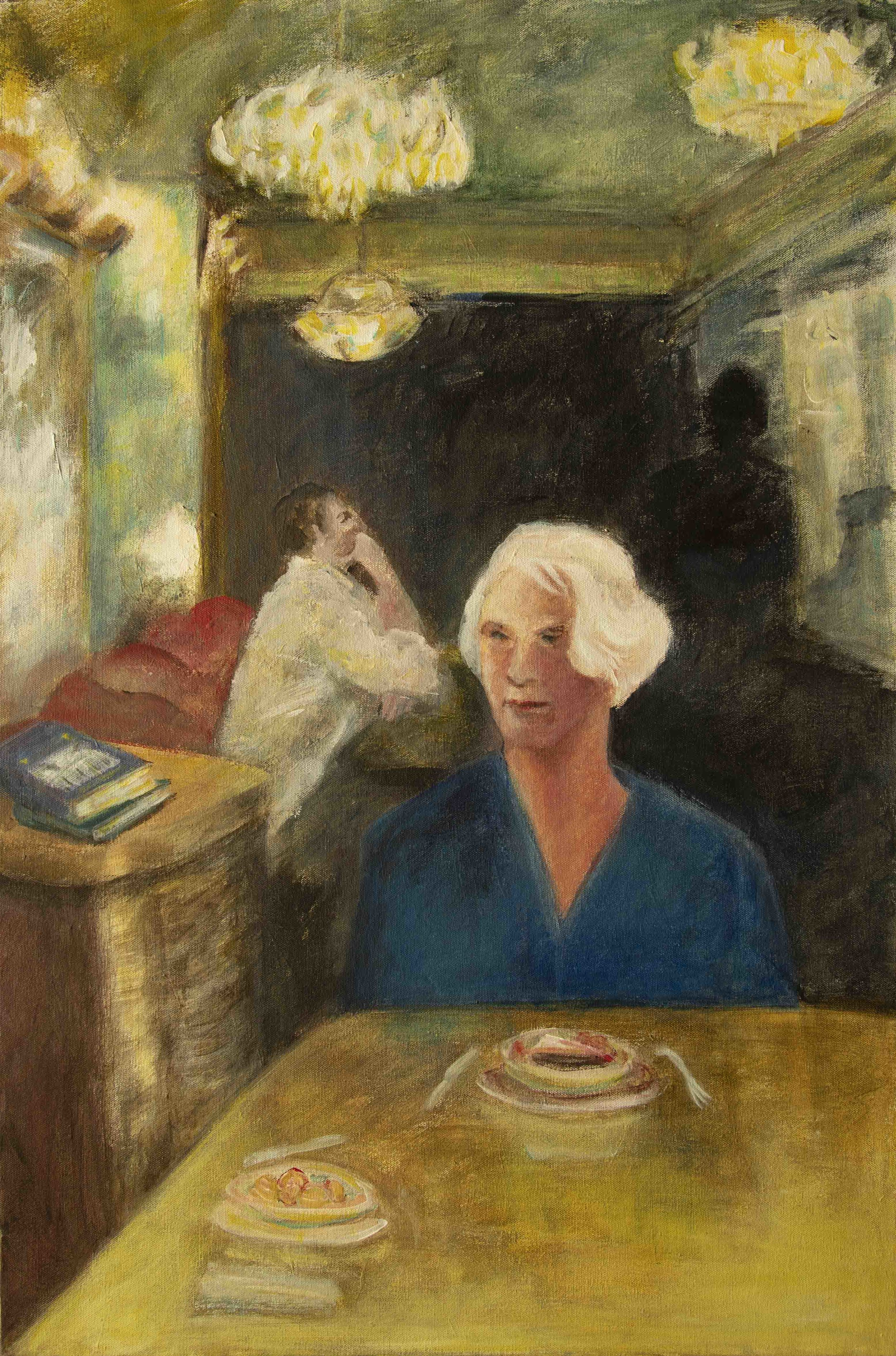 Portrait of the Author, Rachel Segall acrylic on canvas 2018