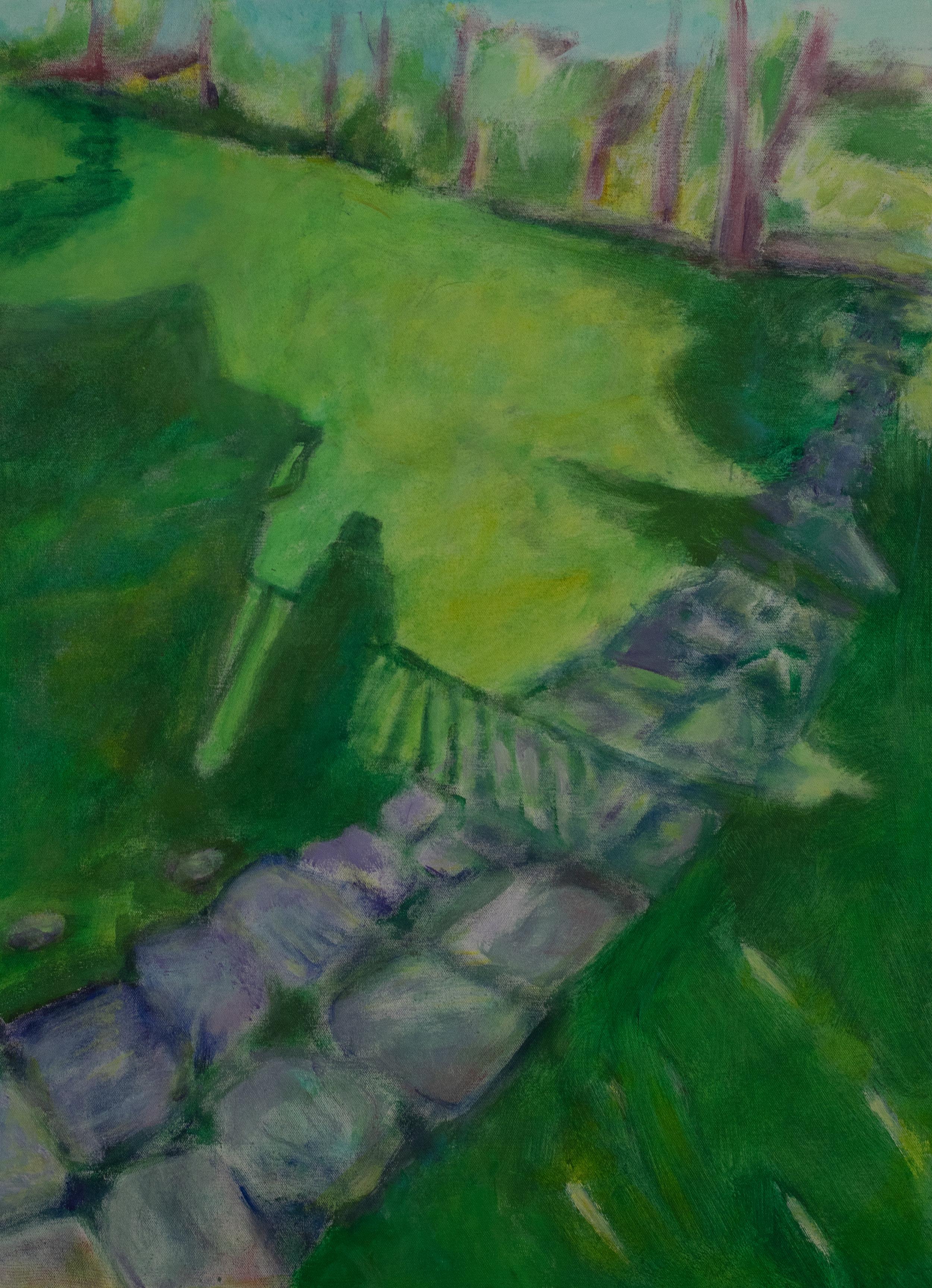 """Contemplation"" 24 x 30 acrylic on canvas, Rachel Lulov Segall"