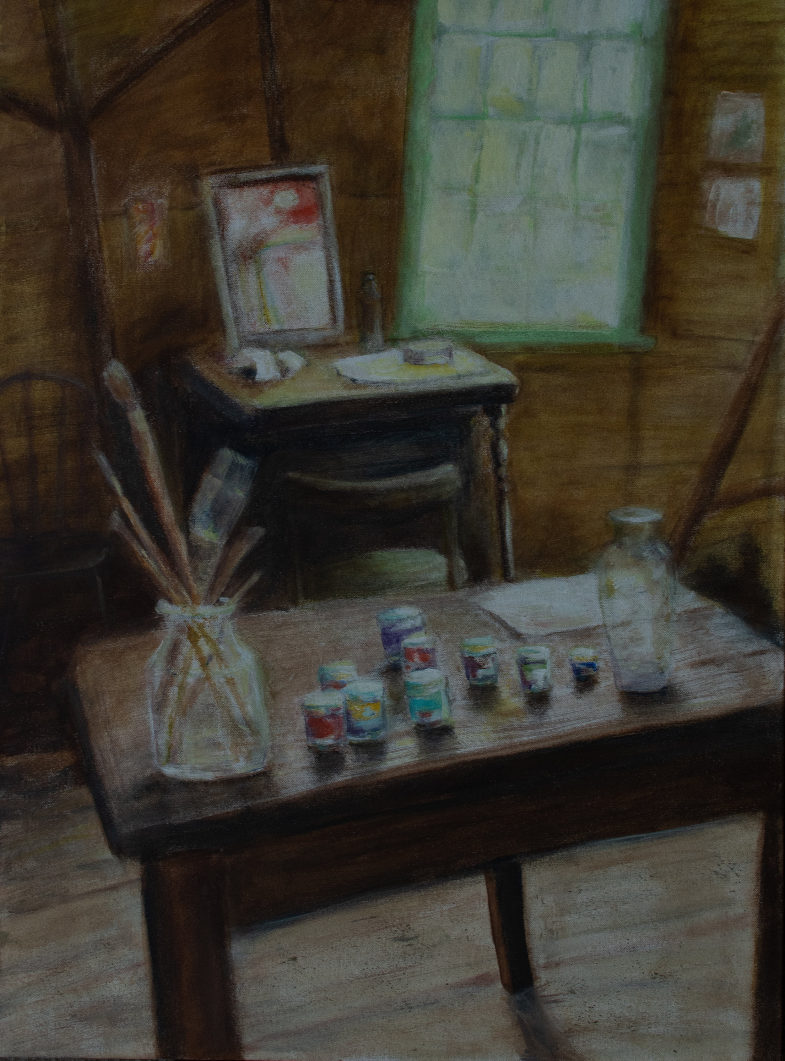 "The Studio, acrylic on canvas, 30""x 24 Rachel Lulov Segall"