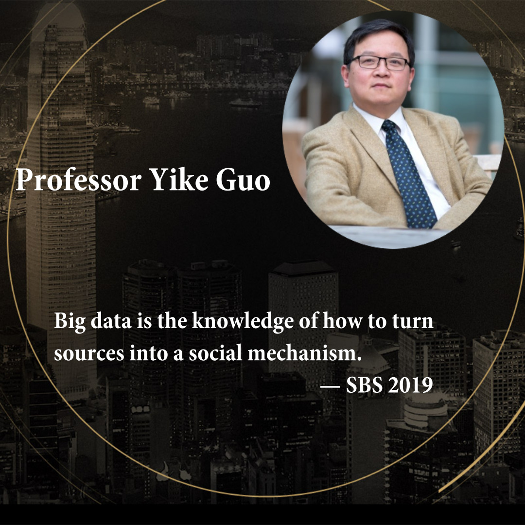 Professor Yike Guo   Director of the Data Science Institute at Imperial College London