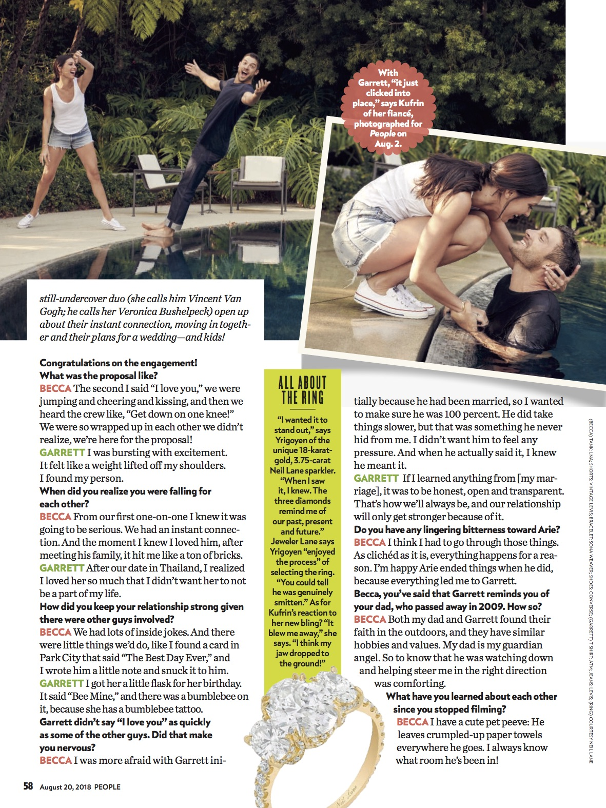 People  Magazine - August 20, 2018: Becca Kufrin in The Shell Bracelet. Page 2.