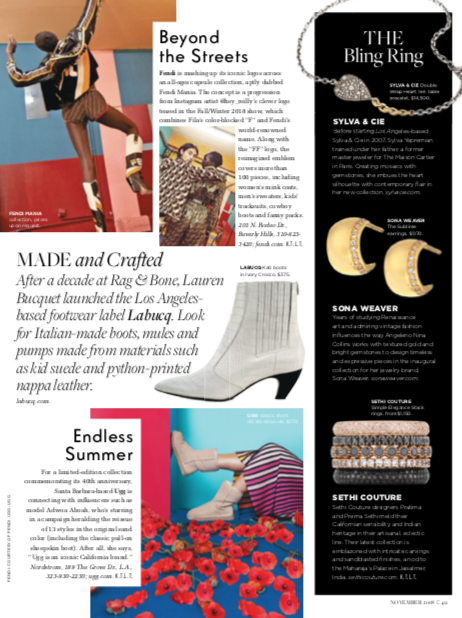 """C Magazine - November 2018: """"Bling Ring"""" featuring The Sublime huggies"""