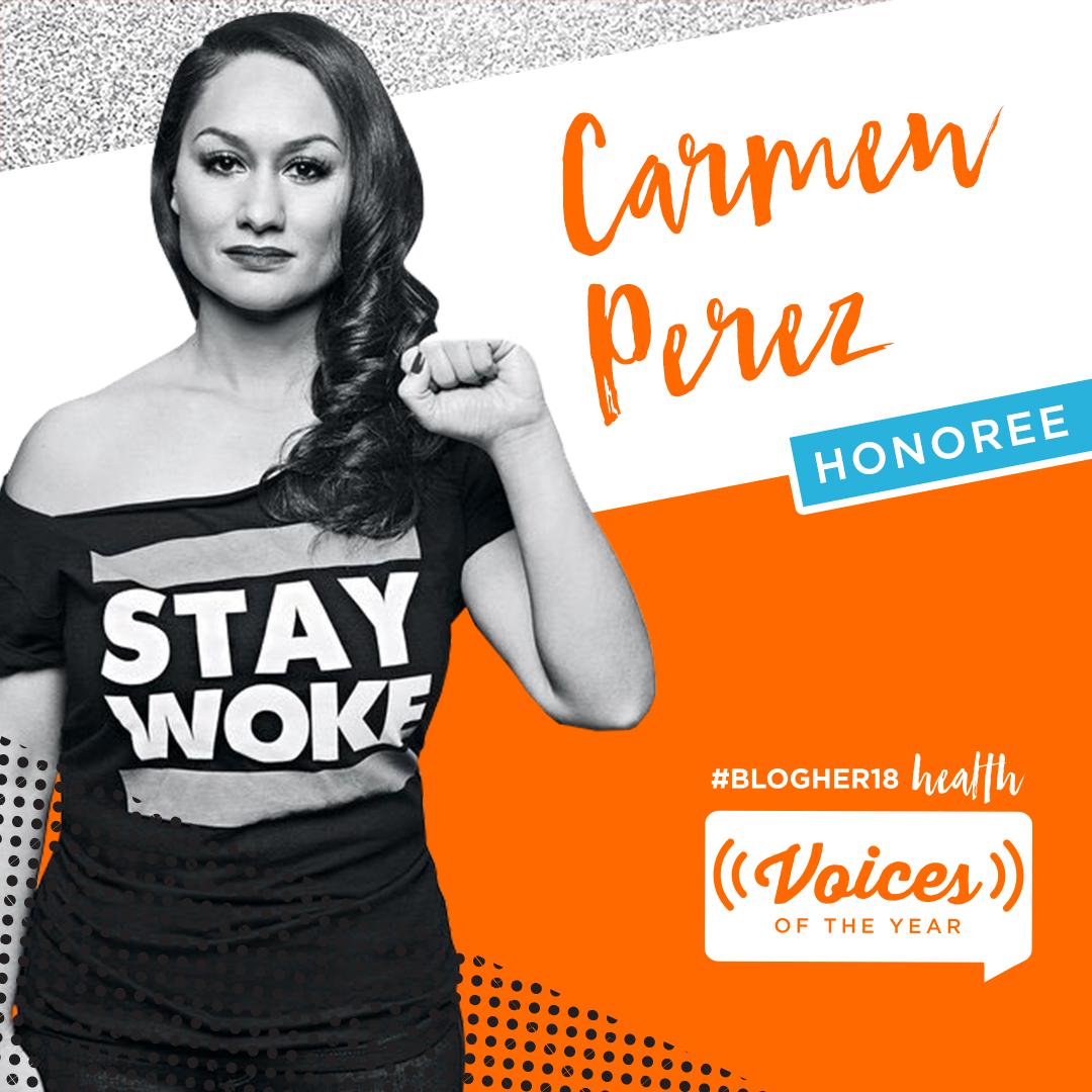 CARMEN PEREZ<br>Women's March Global<br><b>Revolution Award</b>