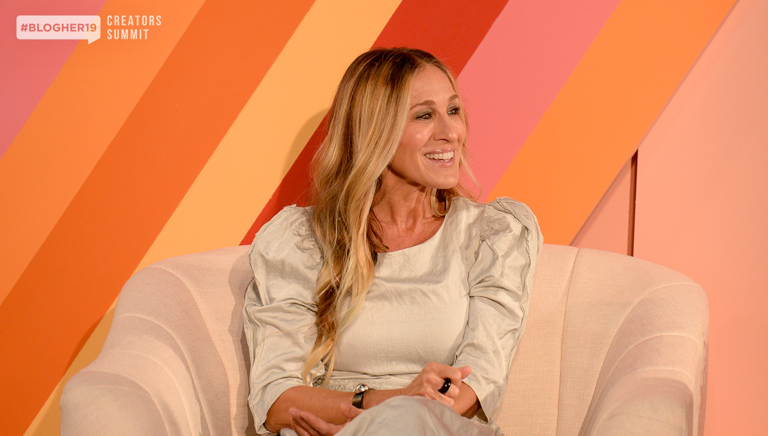 """A business is a business. People want to be successful. Women Entrepreneurs are successful."" - Sarah Jessica Parker joined us at #BlogHer19 Creators Summit and offered advice to female entrepreneurs on listening, learning, and summoning the courage to reach out and ask for what you want."