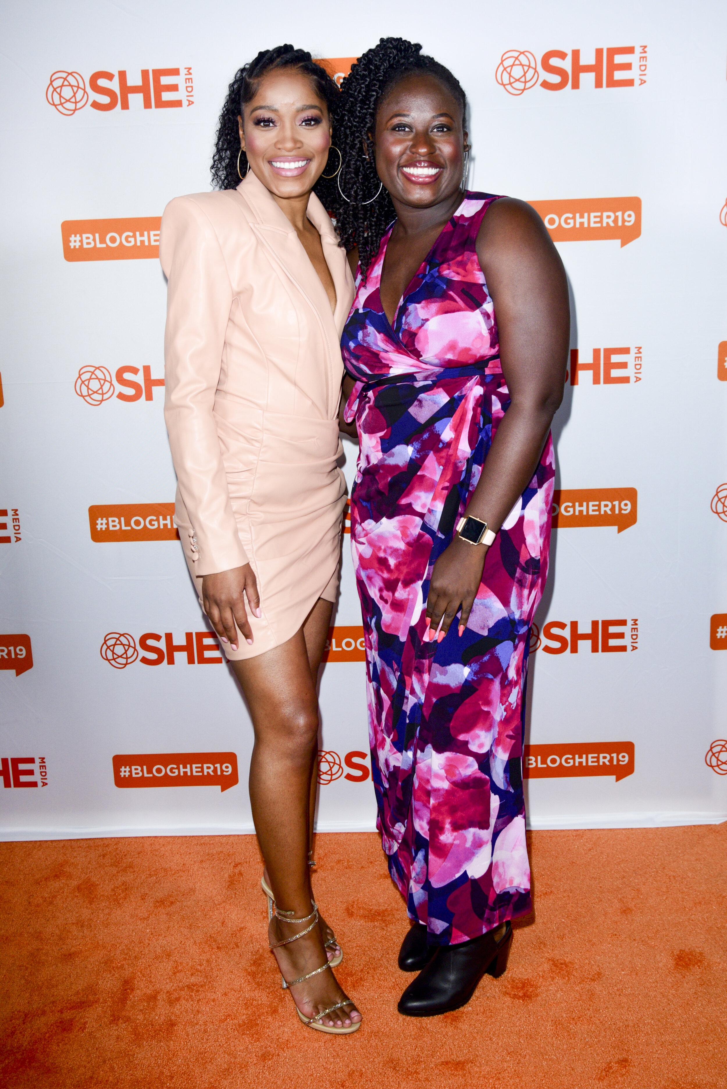 Keke Palmer and StyleCaster's Entertainment Editor Aramide Tinubu backstage at #BlogHer19 Creators Summit