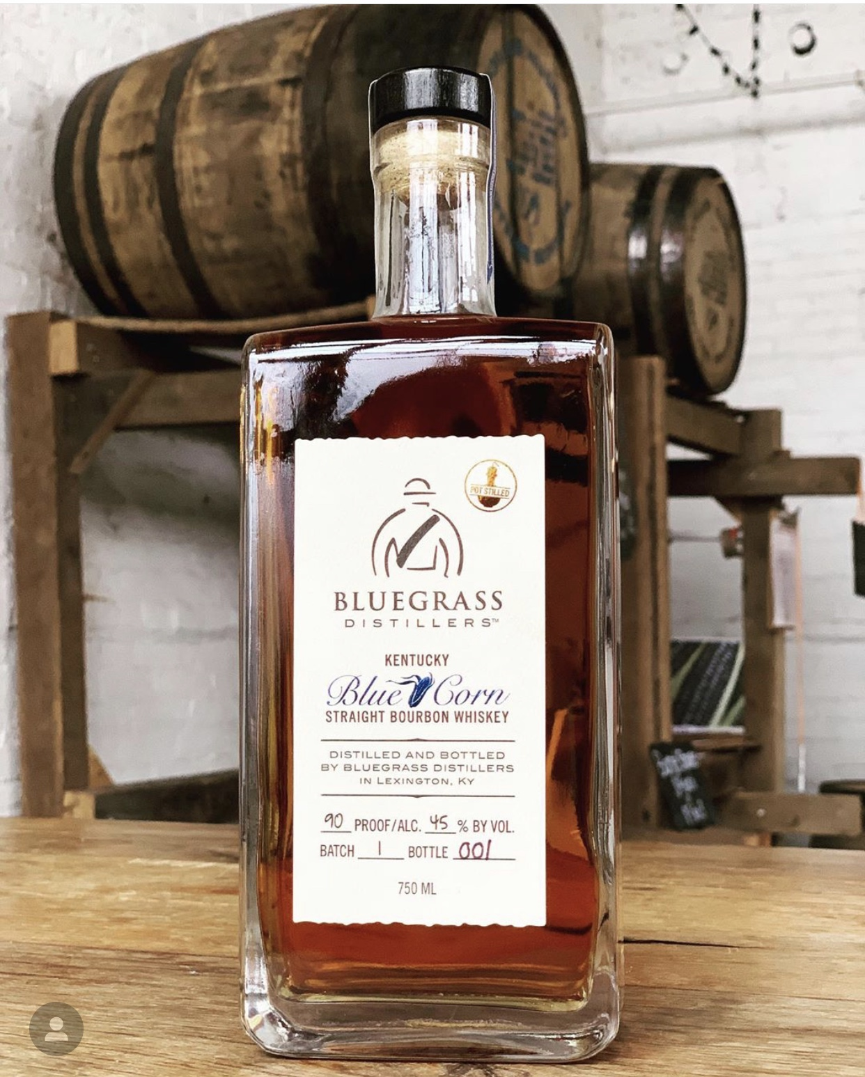 KY STRAIGHT BLUE CORN BOURBON - Made of 75% blue corn, 21% wheat, and 4% malted barley. Unlike any other bourbon, the blue corn yields an earthy, nutty, and mildly vanilla flavor. We are looking to release our first KY Straight Blue Corn Bourbon March 30th, 2019.We still have bottles available as of May 11th 2019.