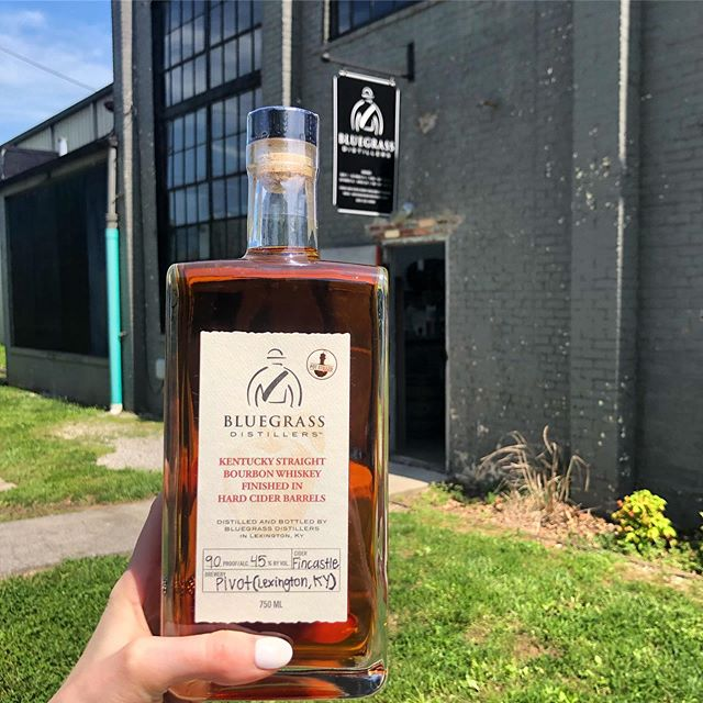 We are THRILLED to share the release of our Kentucky Straight Bourbon Whiskey Finished In Hard Cider Barrels 🍎🥃 Special shoutout to @pivotbrewing for working with us on this collaboration. We have a little over 300 bottles, be sure to come get one while you can! Reserve your bottle online through tomorrow (5/9) www.bluegrassdistillers.com/store