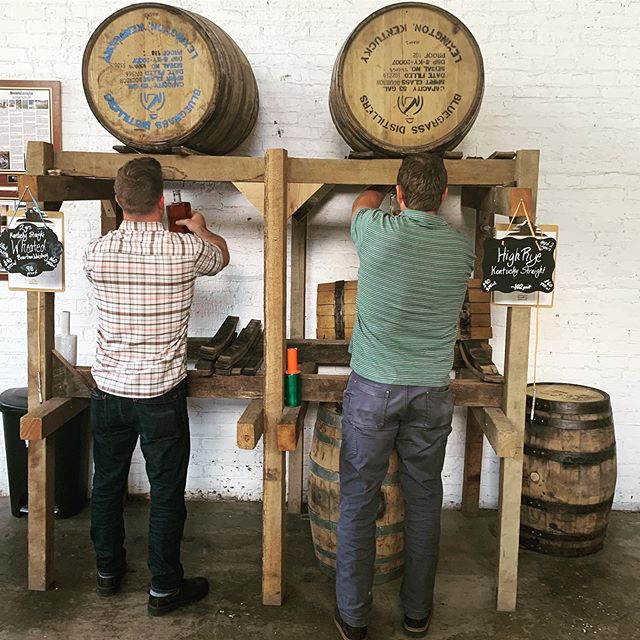 Looking for something really fun to do this weekend? Come over to Bluegrass Distillers for a tour and tasting and get the  VERY unique and cool experience of filling up your own bottle of bourbon straight and unfiltered right out of the barrel🥃💪🏽👌🏻😎 We are open 10:00-5:00 today and 12:00-4:00 tomorrow. #kentuckybourbontrail #bluecornbourbon #bourbon #tapthebarrel #barreldrawn #kyproud #visitlex #kentuckybourbontrail