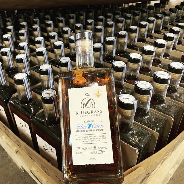 Less than 29 cases left of batch #1 Blue Corn Kentucky Straight Bourbon Whiskey. Come in this beautiful weekend to grab your bottles before they are all gone! #kytourism #bluegrassdistillers #kentuckybourbontrail #kyproud #bourbon #bluecornbourbon #batch#1 #kentuckybourbon #straightkentuckybourbon