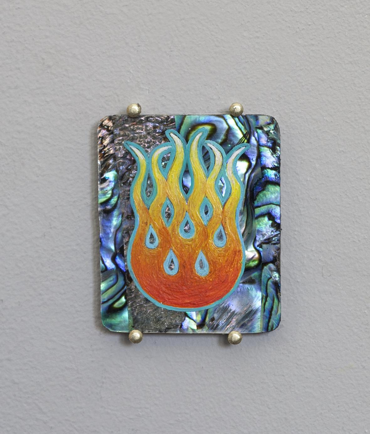 Seven small Stigmata, Biker flame motif