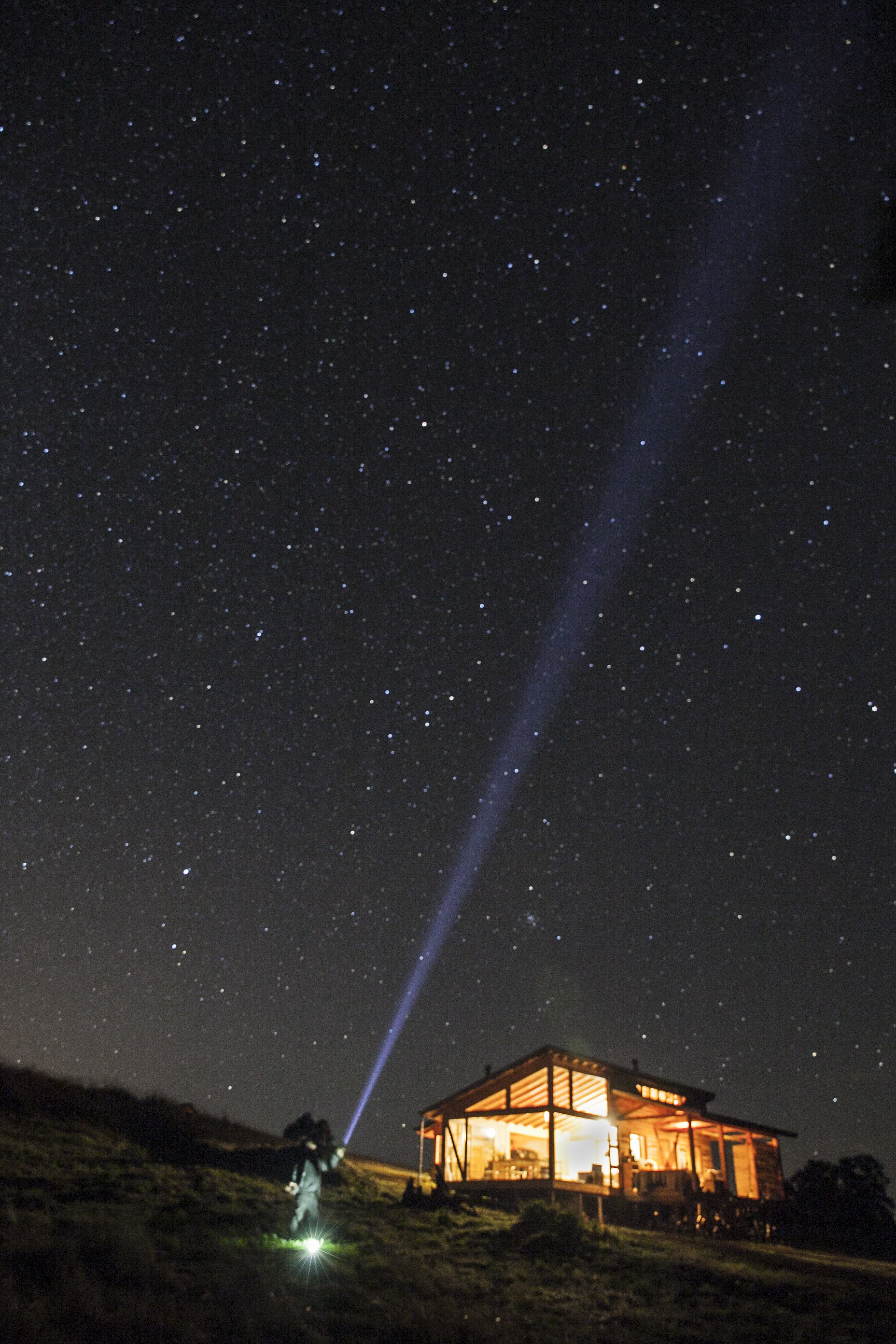 Stargazing at the night sky at Samadhi Eco Resort, Chile